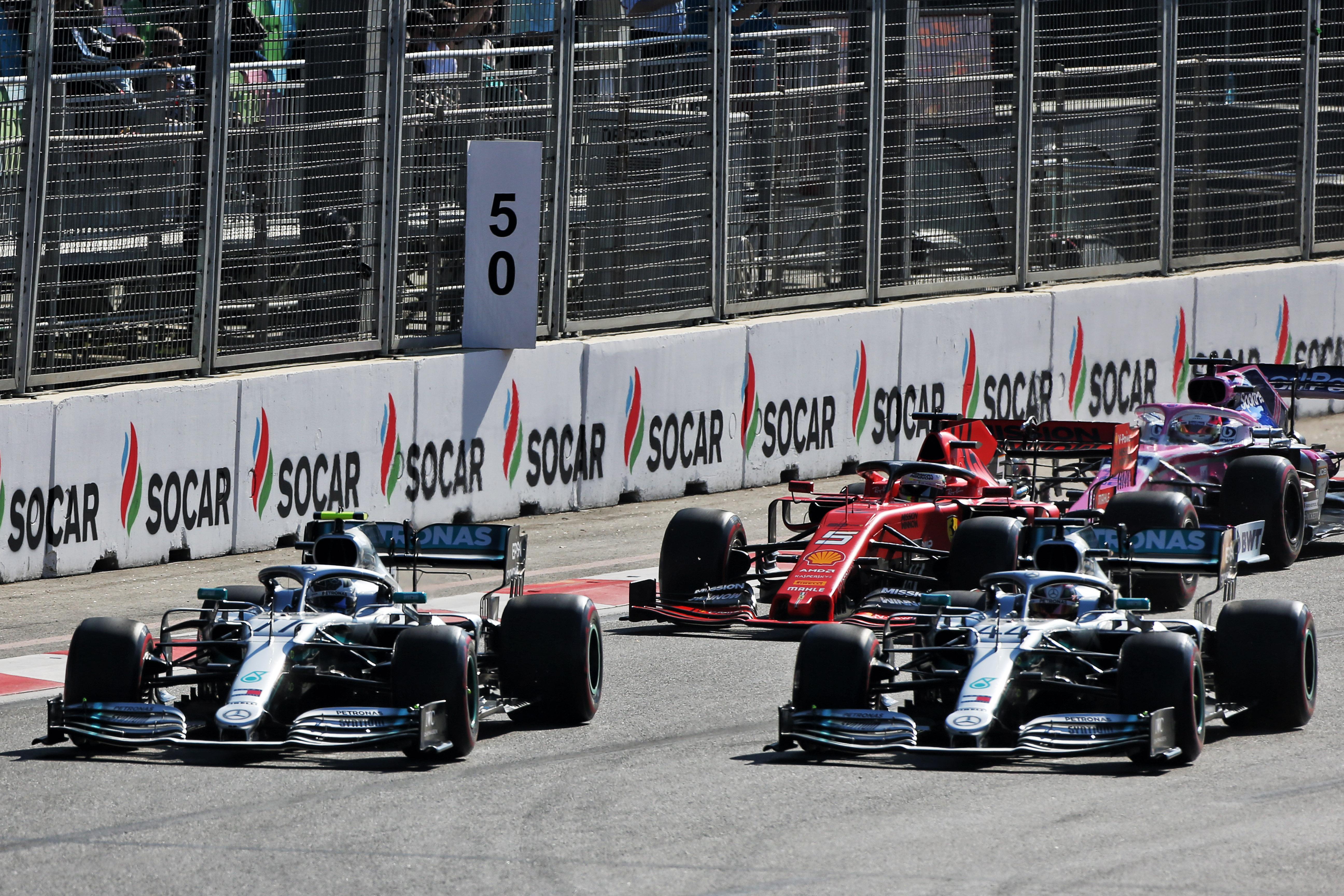 Lewis Hamilton Valtteri Bottas Mercedes Azerbaijan Grand Prix 2019