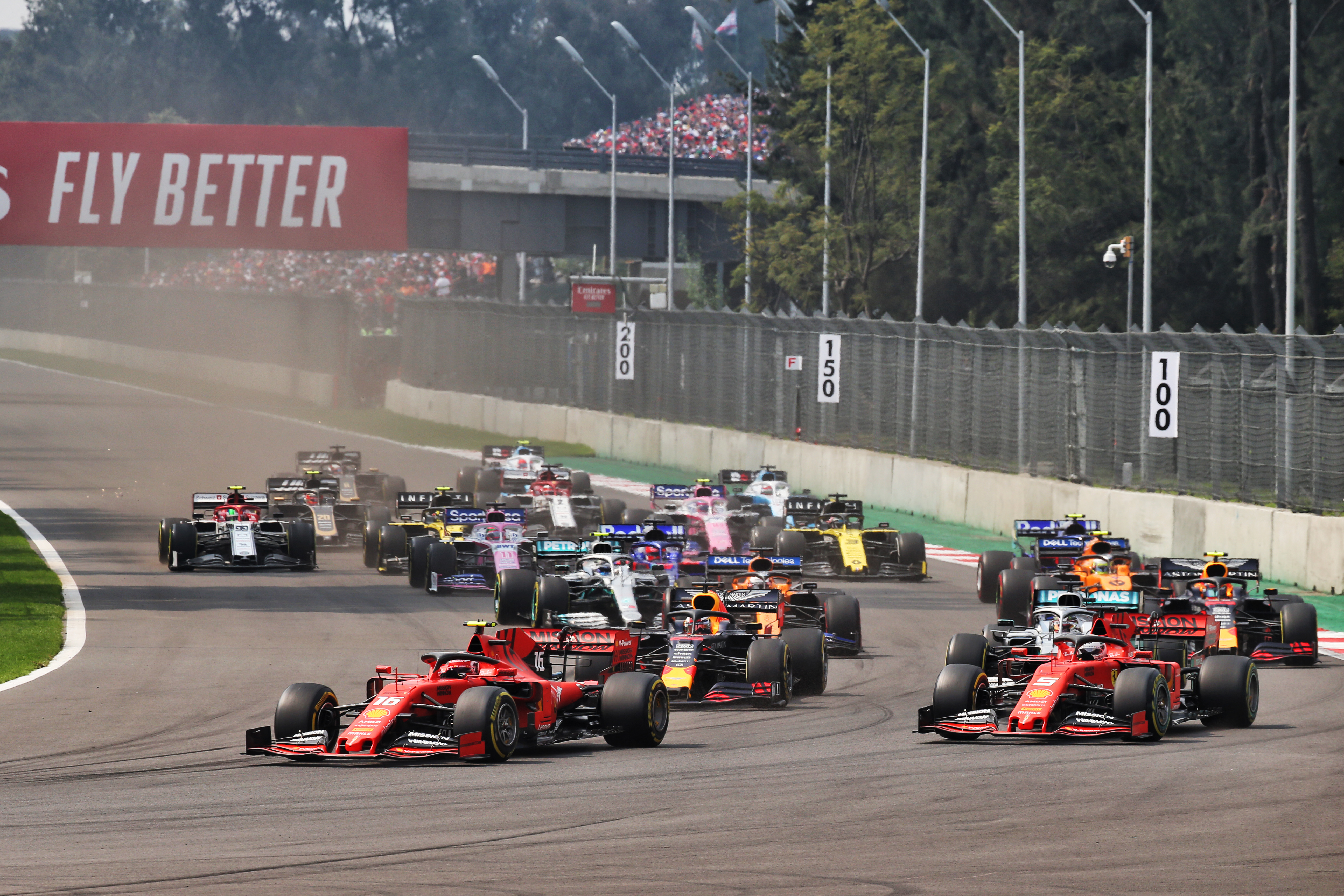 Sebastian Vettel Charles Leclerc F1 Ferrari 2019