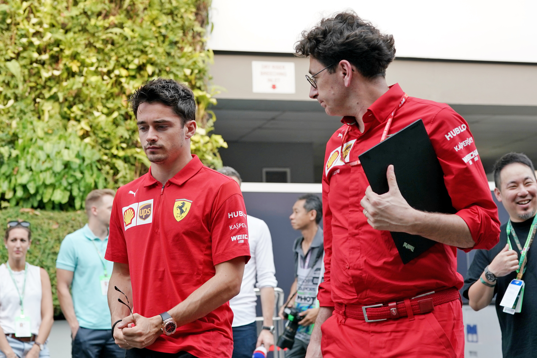 Charles Leclerc Mattia Binotto Ferrari F1 2020