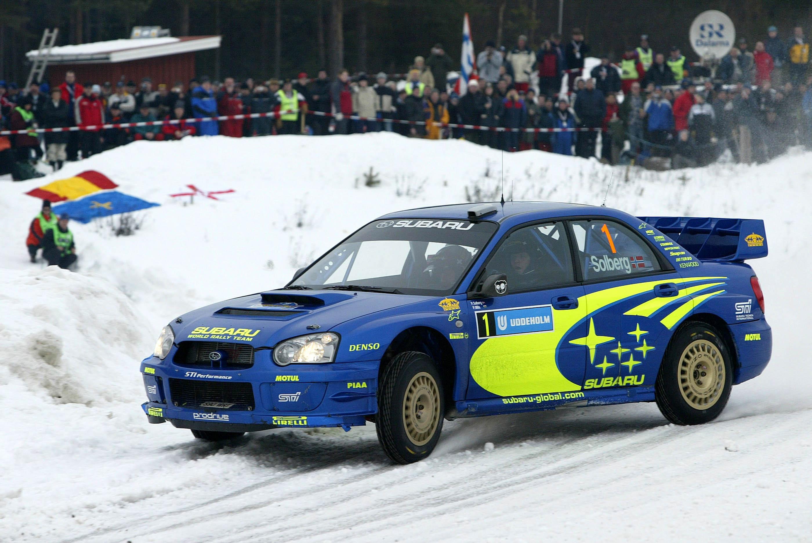 Petter Solberg Subaru WRC Rally Sweden 2004