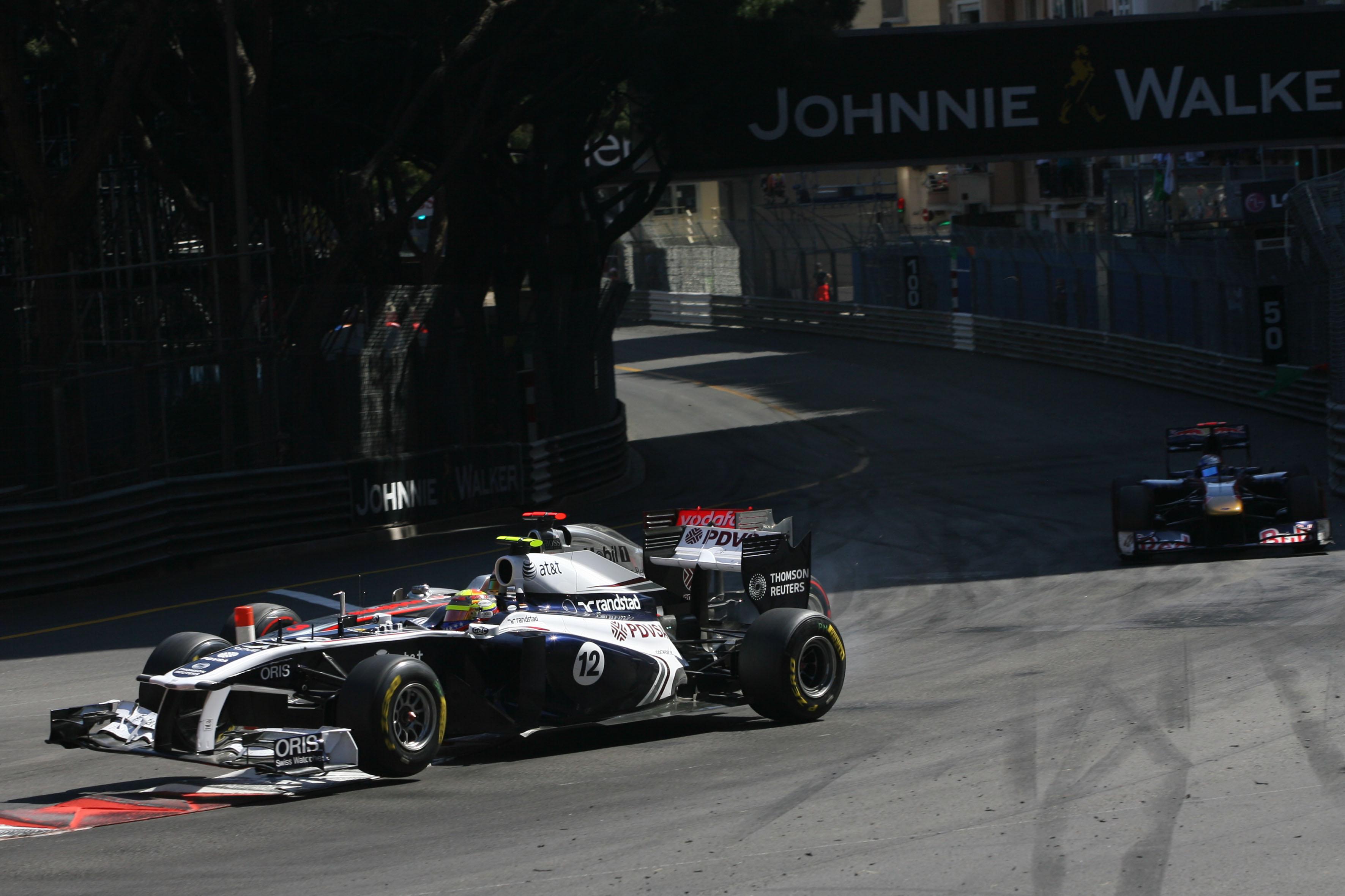 Pastor Maldonado Lewis Hamilton collision Monaco Grand Prix 2011