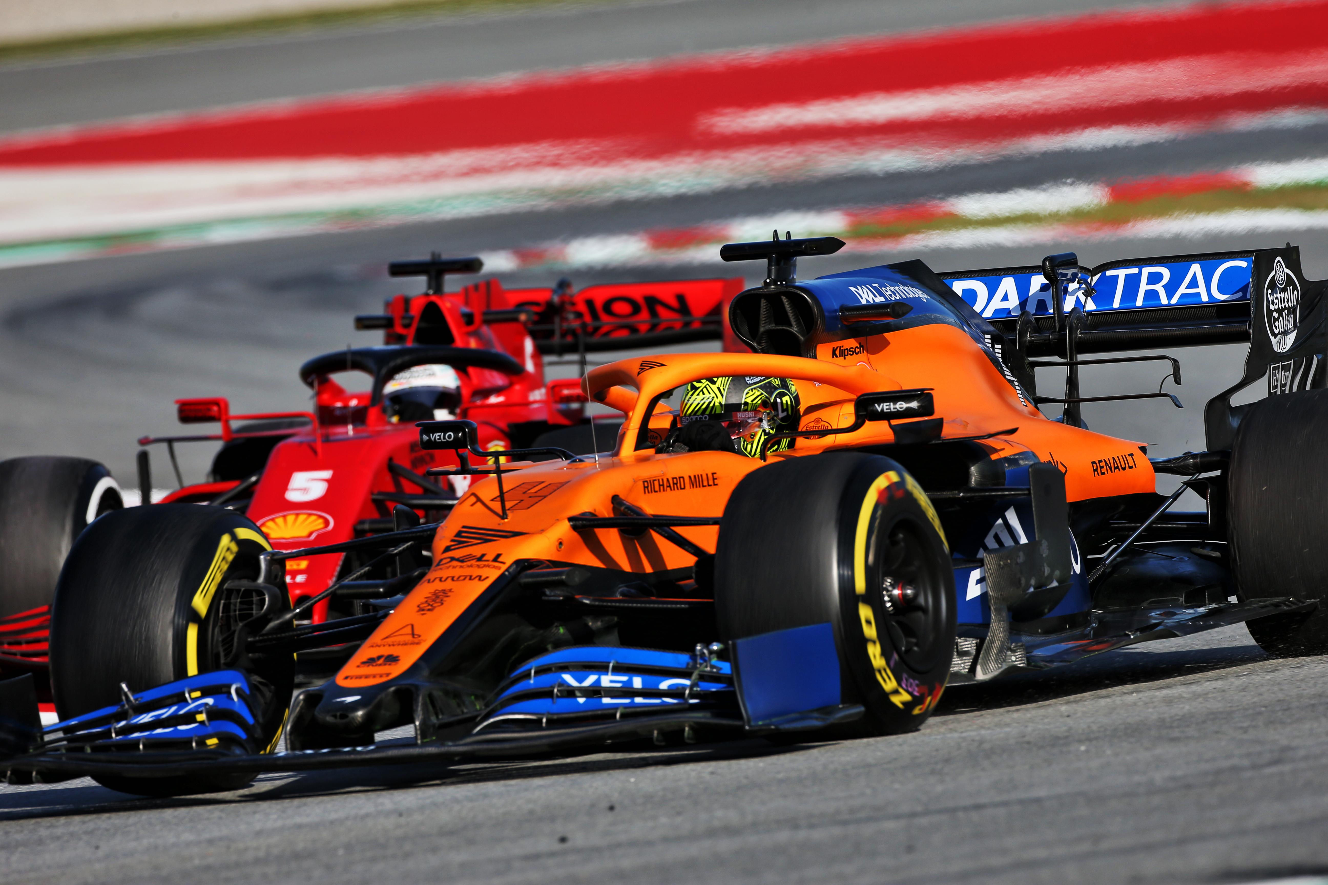 Sebastian Vettel Lando Norris McLaren Ferrari F1 2020