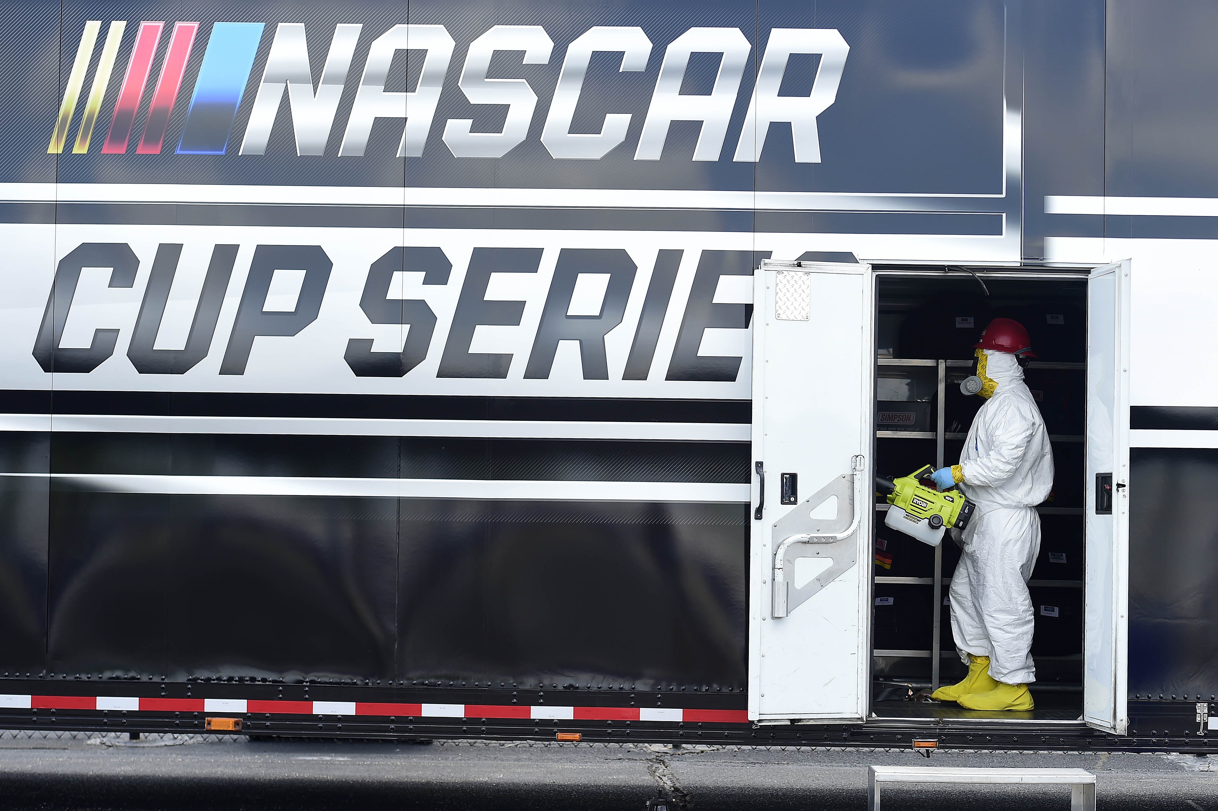 NASCAR cleaning