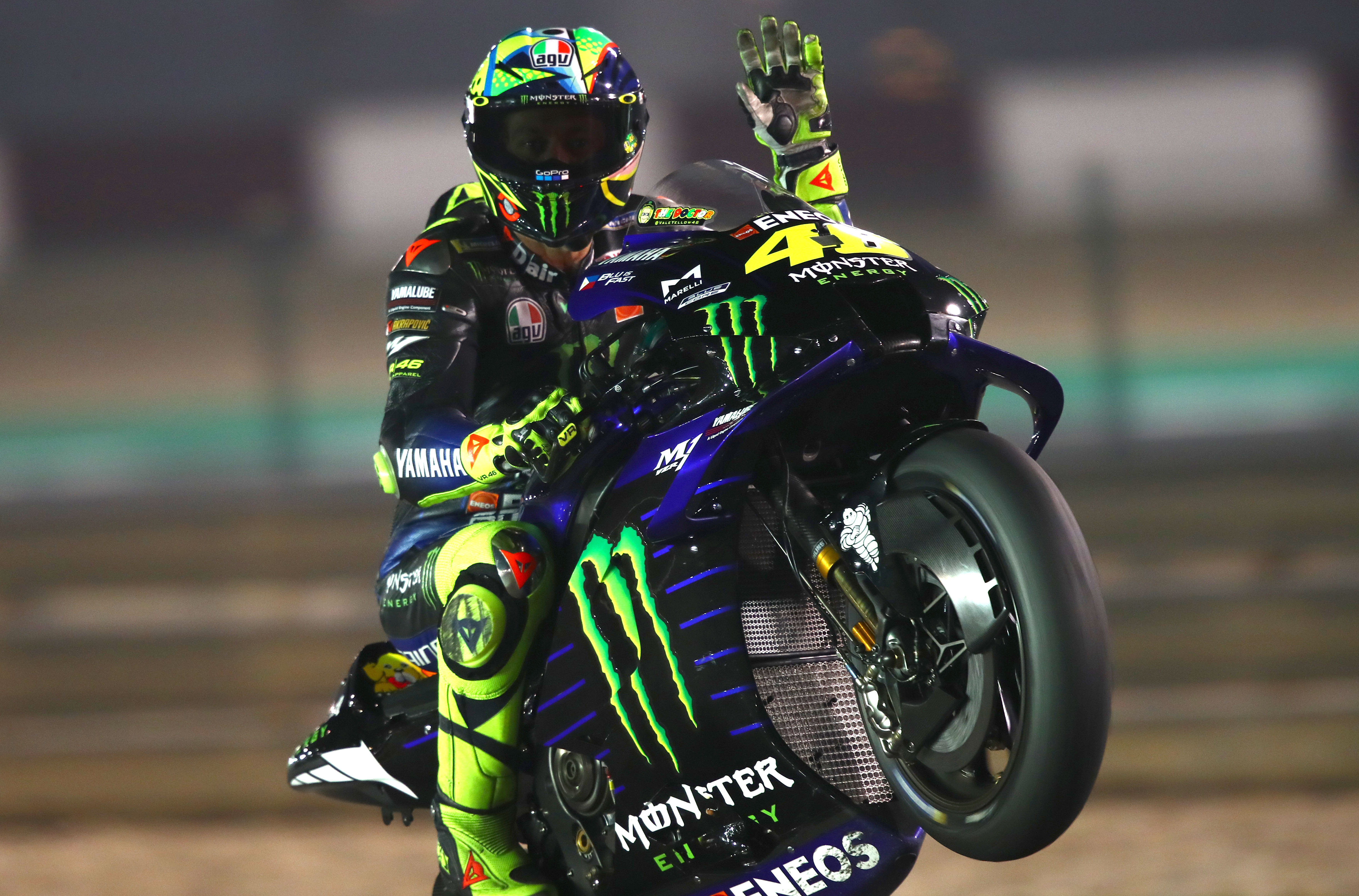 Valentino Rossi Yamaha Qatar MotoGP testing 2020