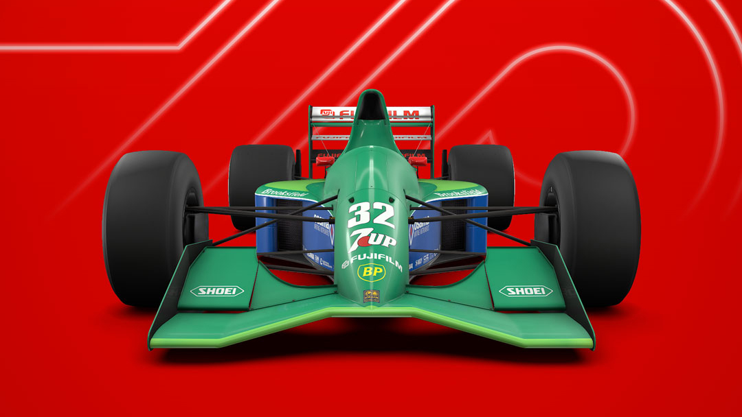 F1 2020 game Jordan 191 classic car