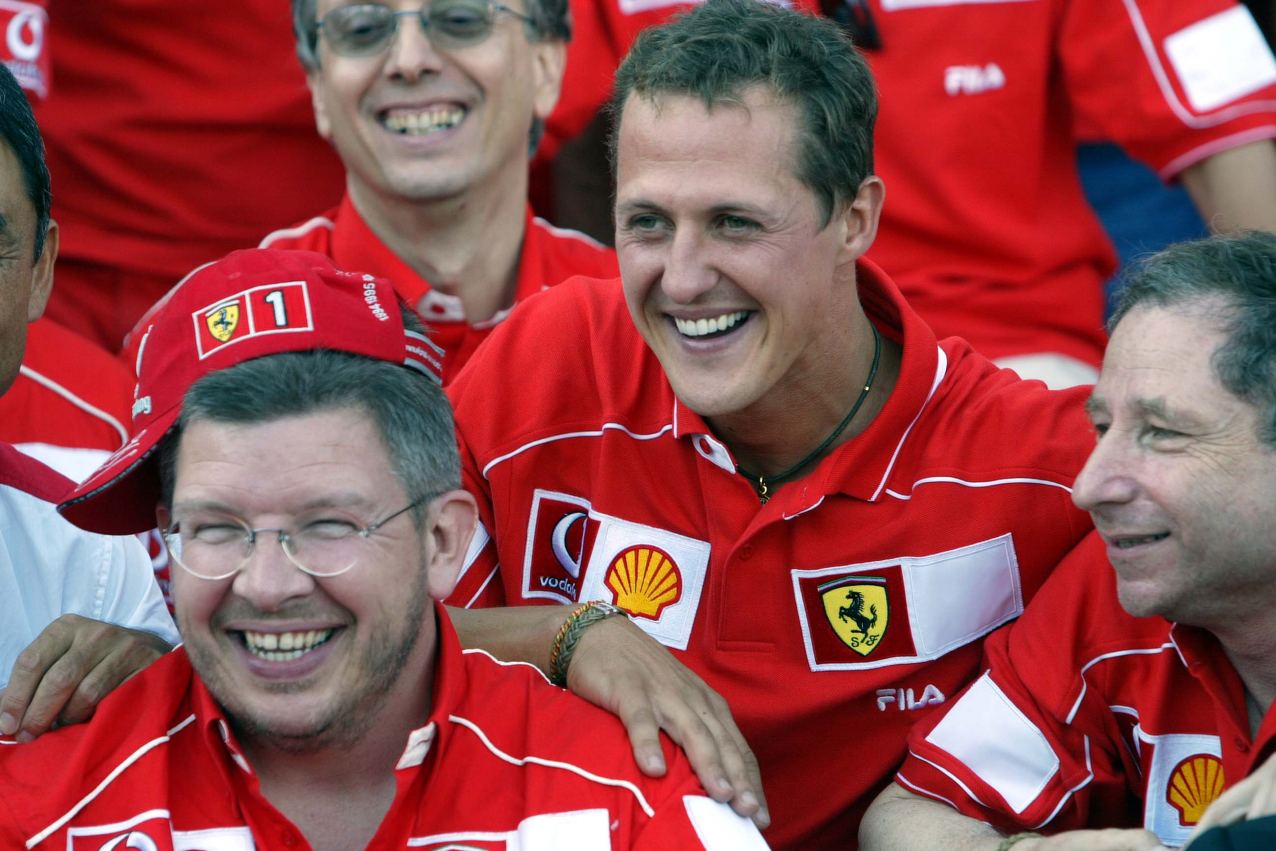 Ross Brawn Michael Schumacher Jean Todt 2002