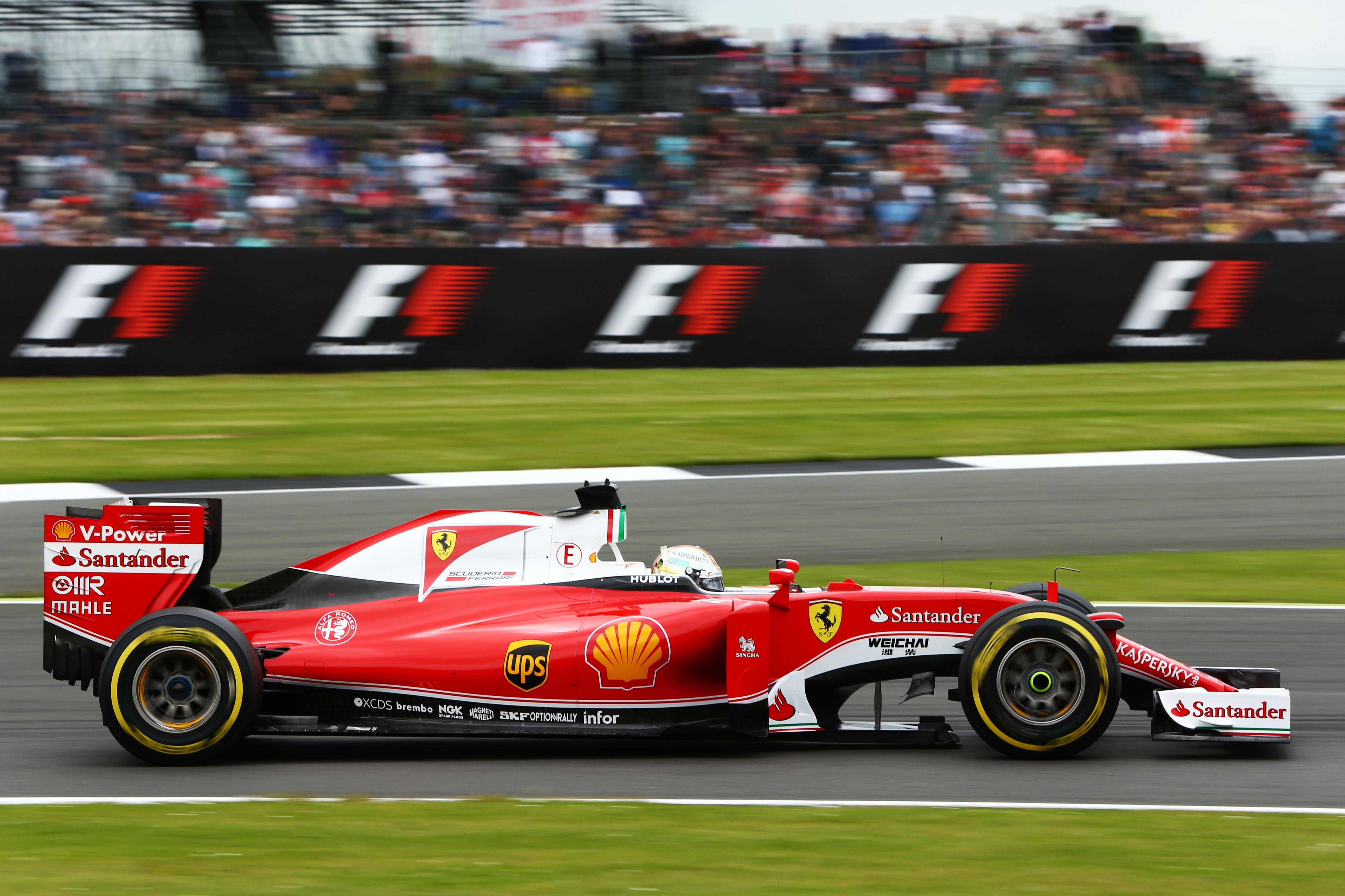Sebastian Vettel Ferrari British Grand Prix 2016 Silverstone