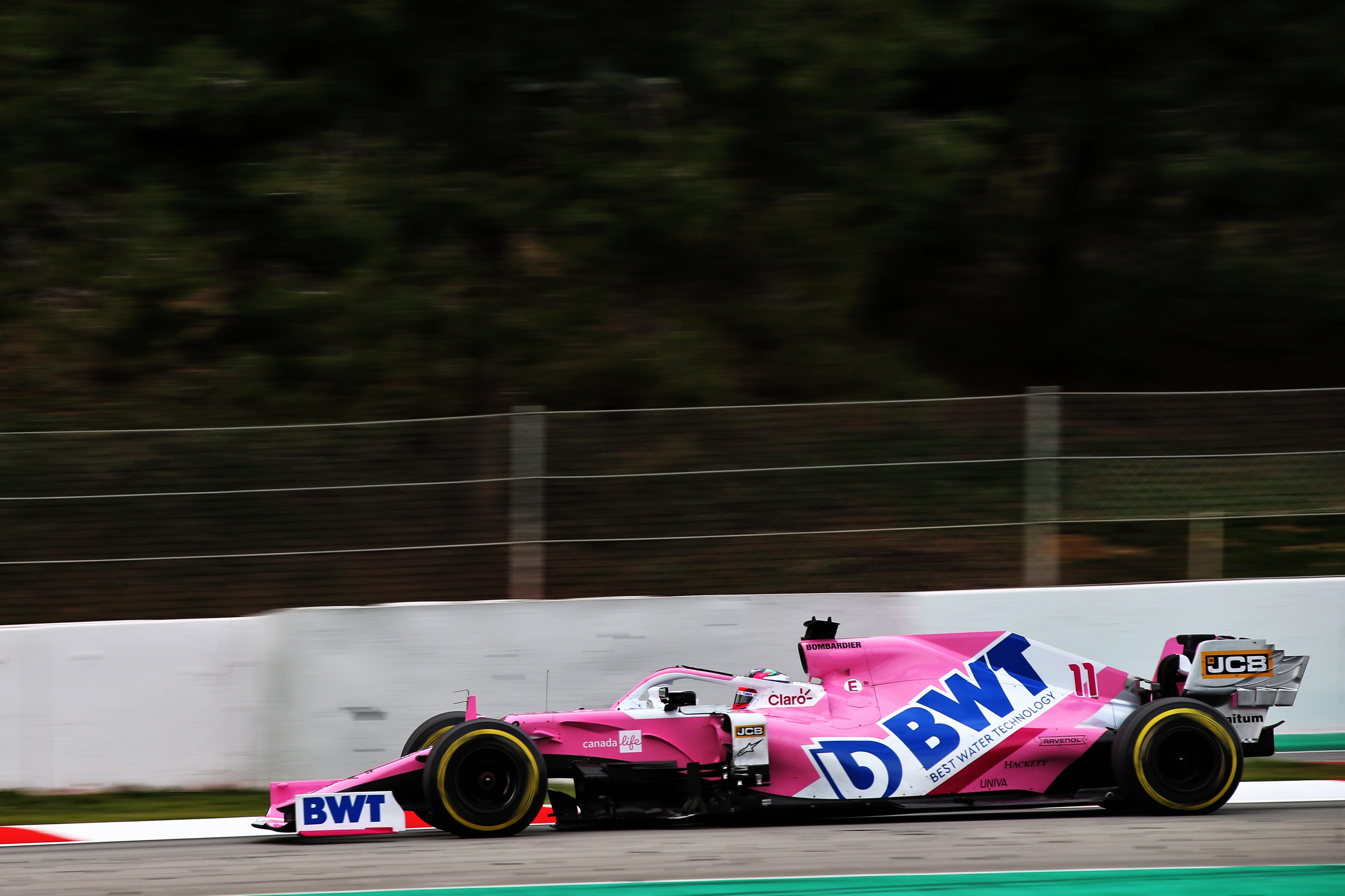 Sergio Perez Racing Point Barcelona F1 testing 2020