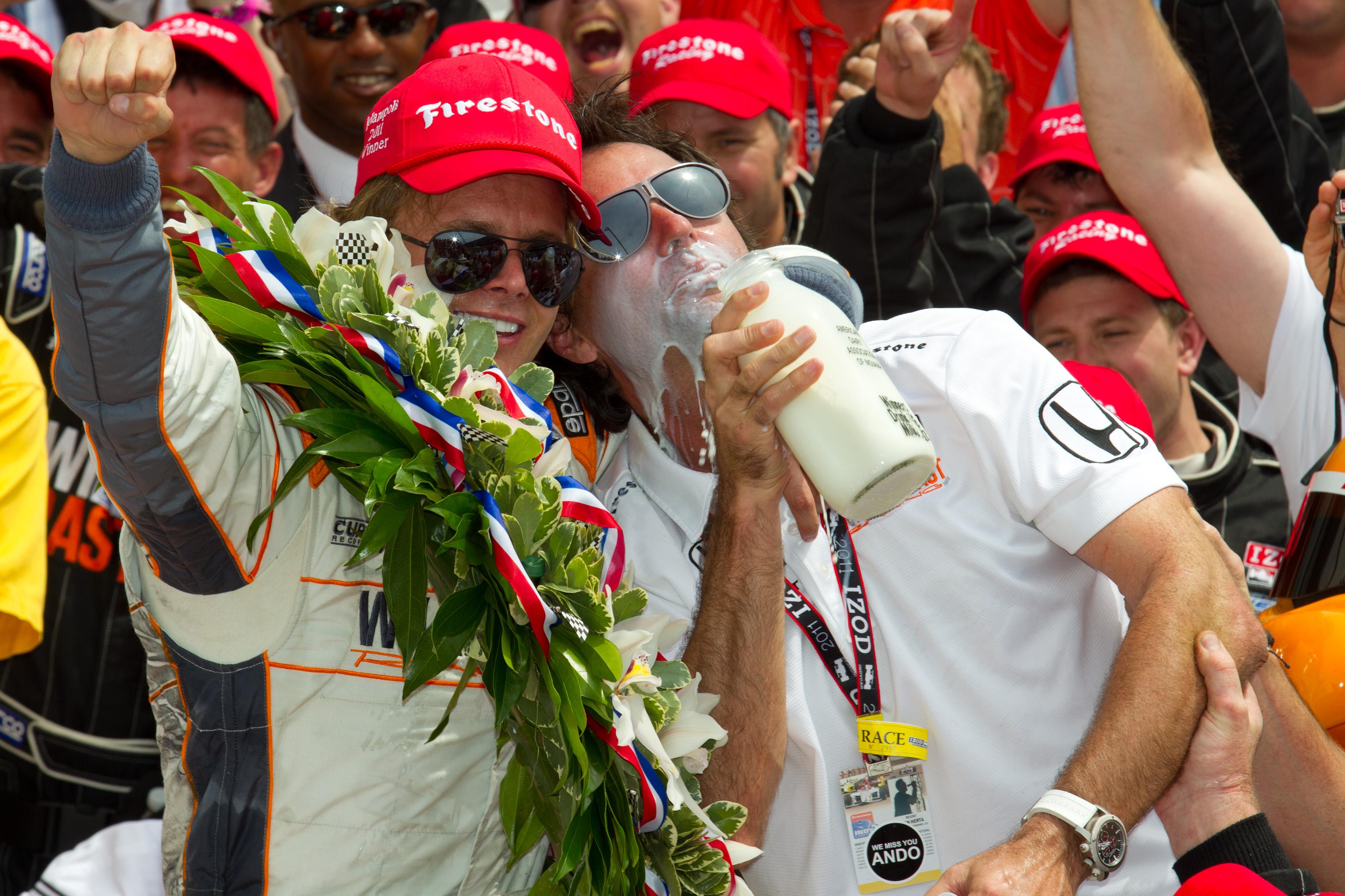 Dan Wheldon Bryan Herta Indy 500 win 2011