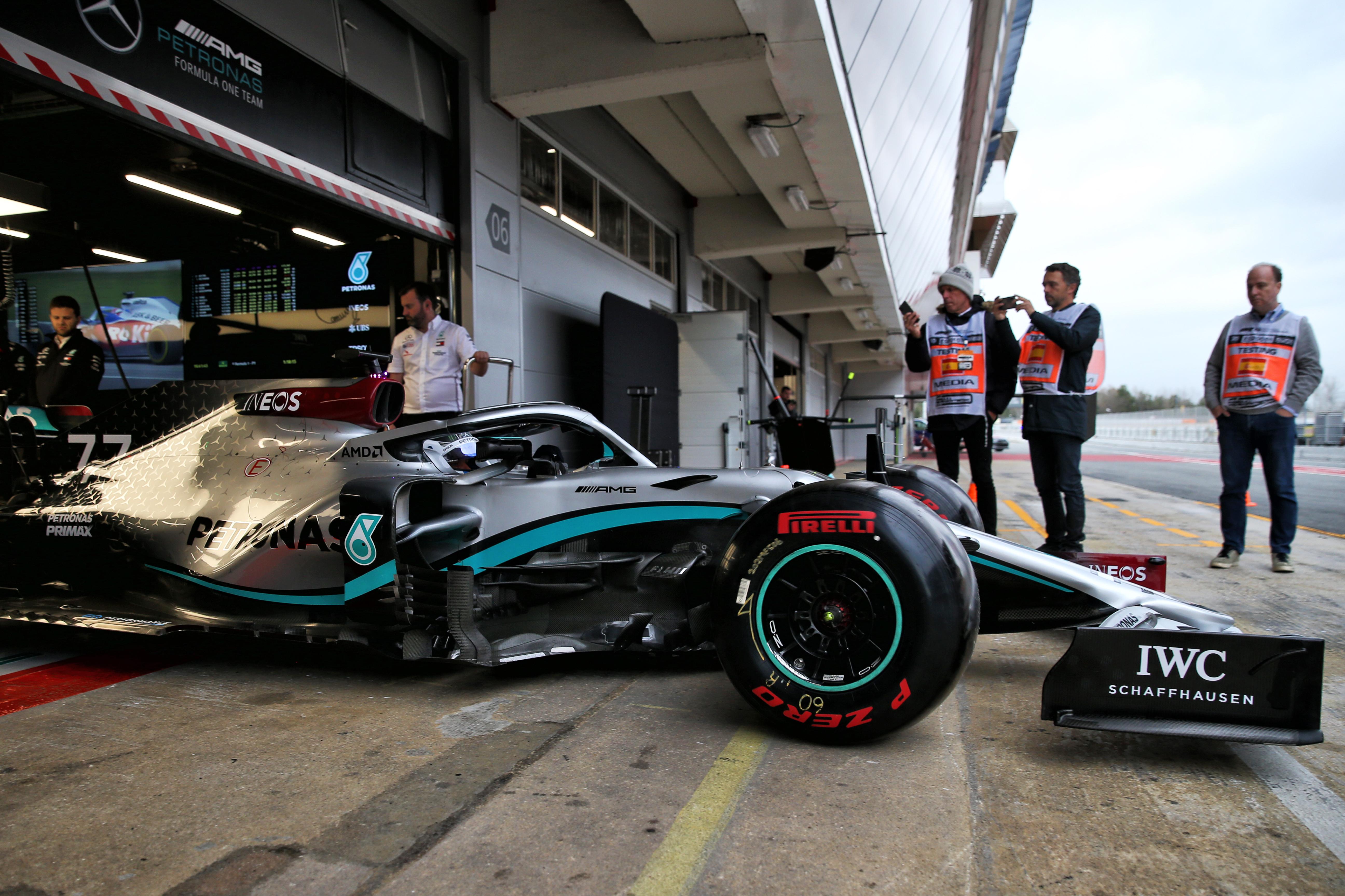 Valtteri Bottas Mercedes Barcelona F1 testing 2020