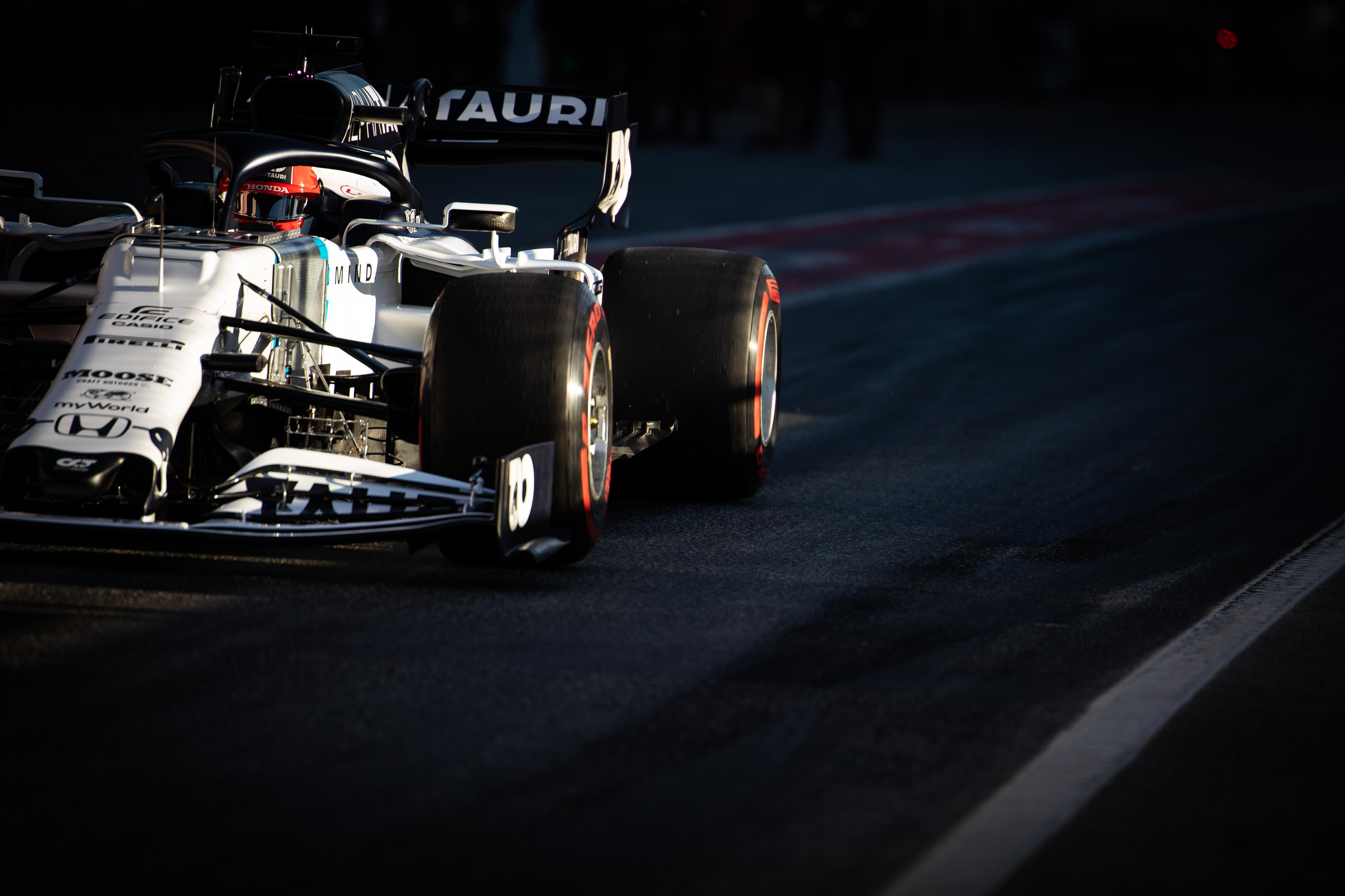 Daniil Kvyat AlphaTauri Barcelona F1 testing 2020