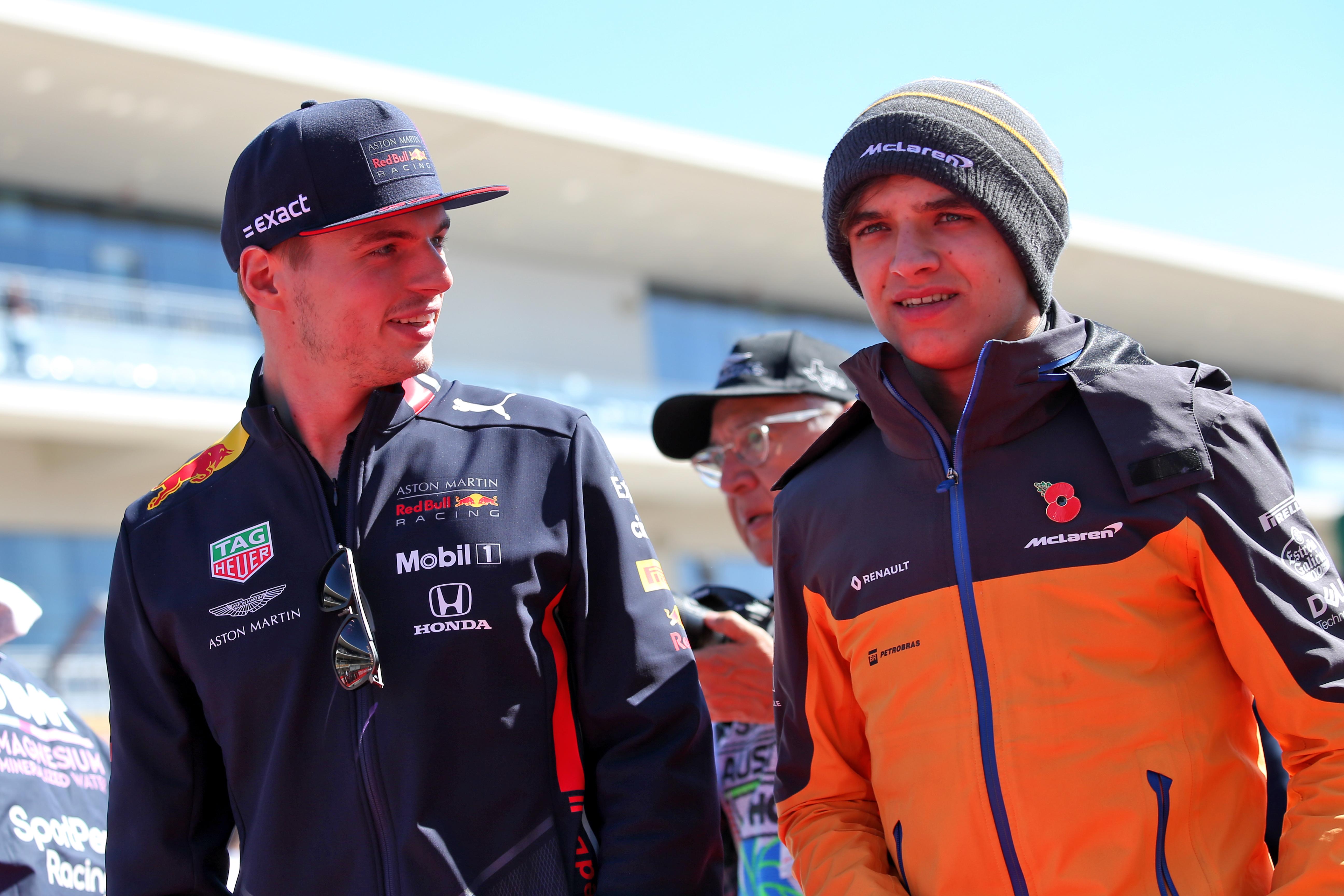 Max Verstappen Lando Norris Red Bull McLaren F1 2019