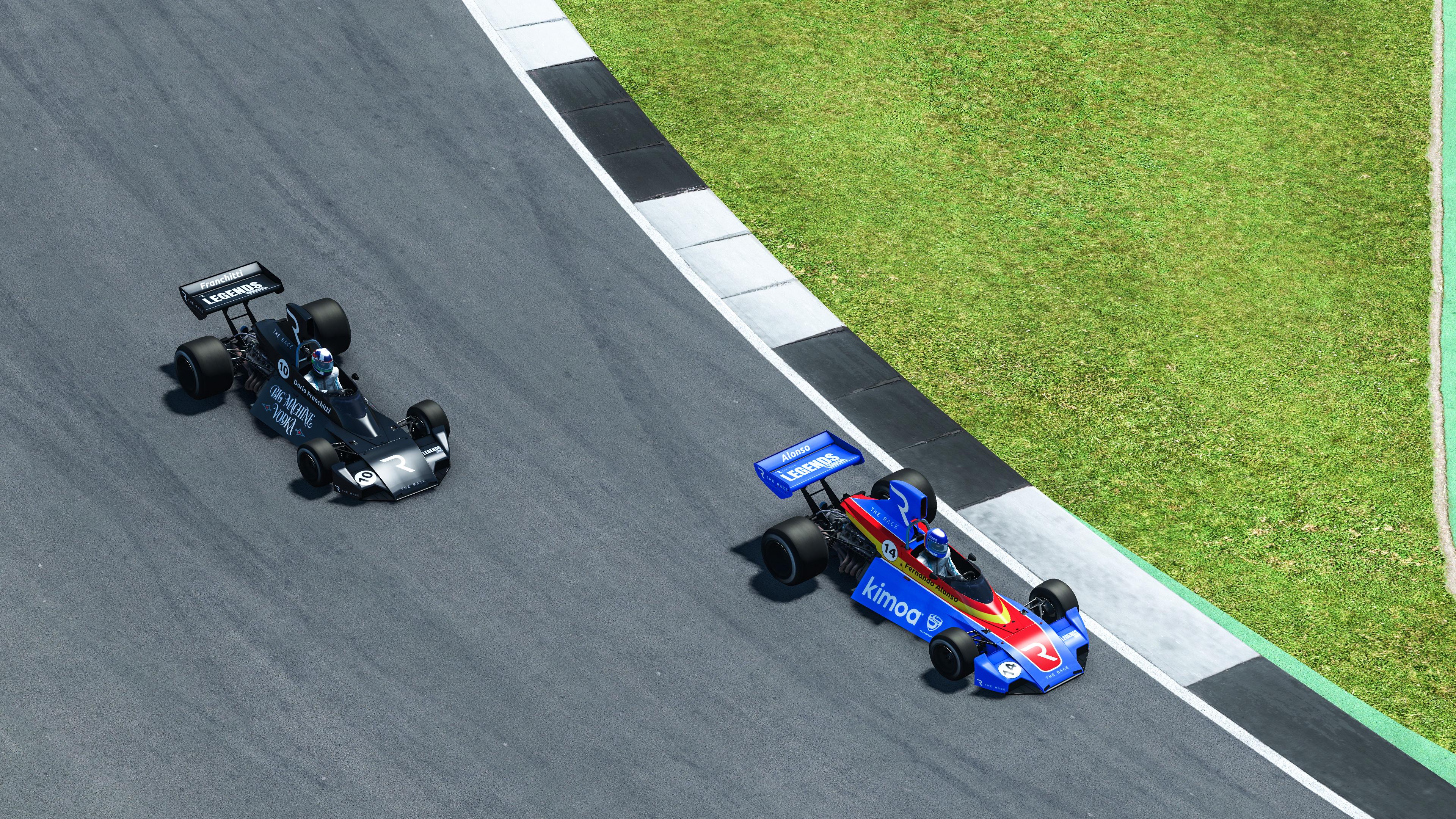 Fernando Alonso Dario Franchitti The Race Legends Trophy Silverstone