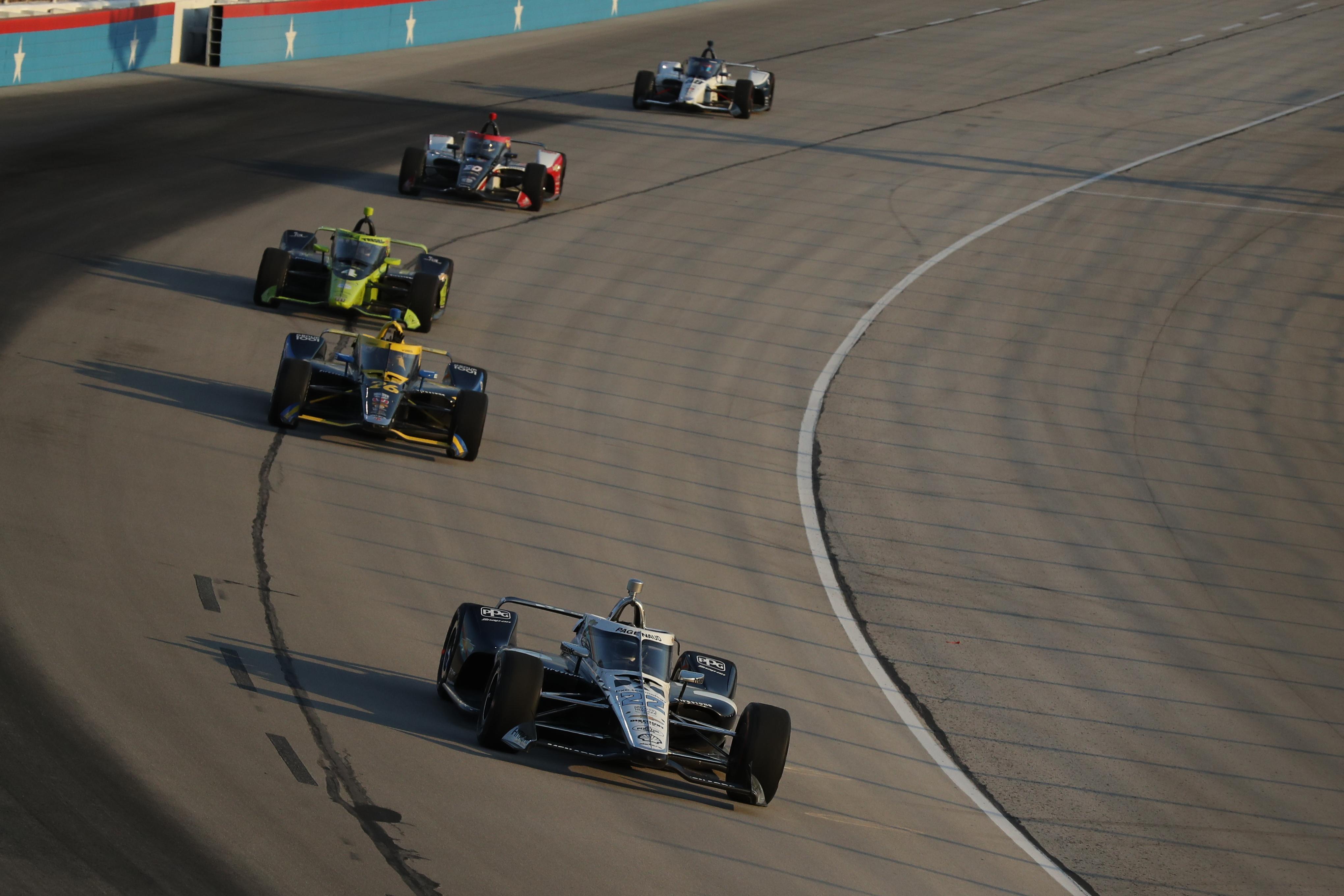 Simon Pagenaud IndyCar Texas aeroscreen 2020