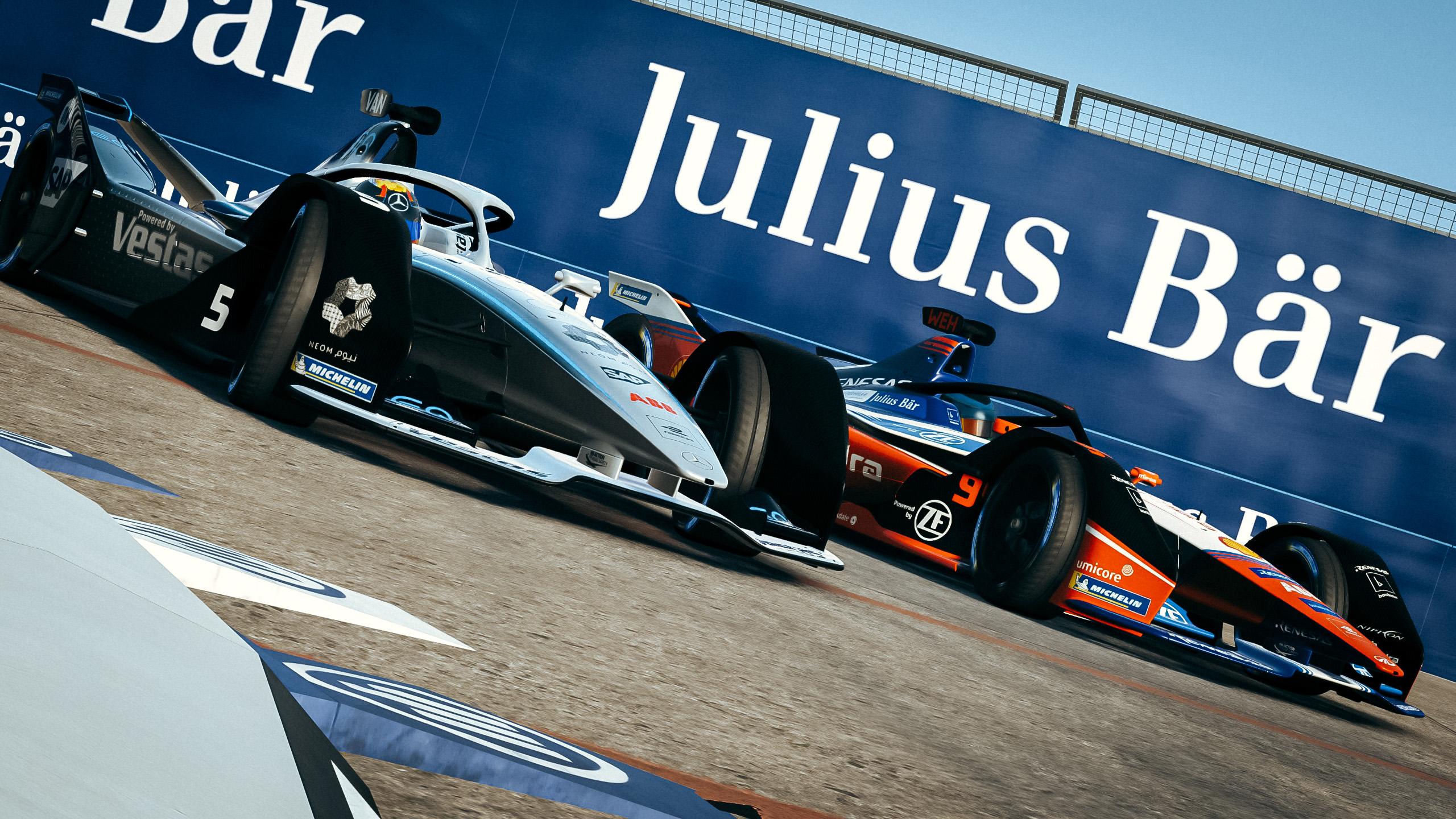 Formula E Race at Home Mercedes Mahindra