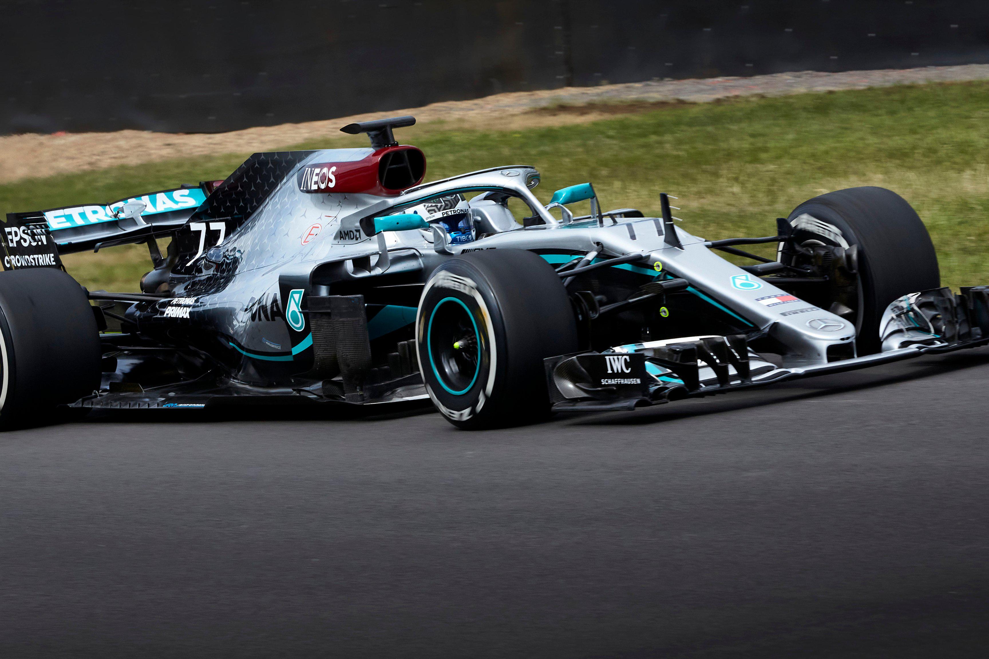Valtteri Bottas Silverstone Mercedes test