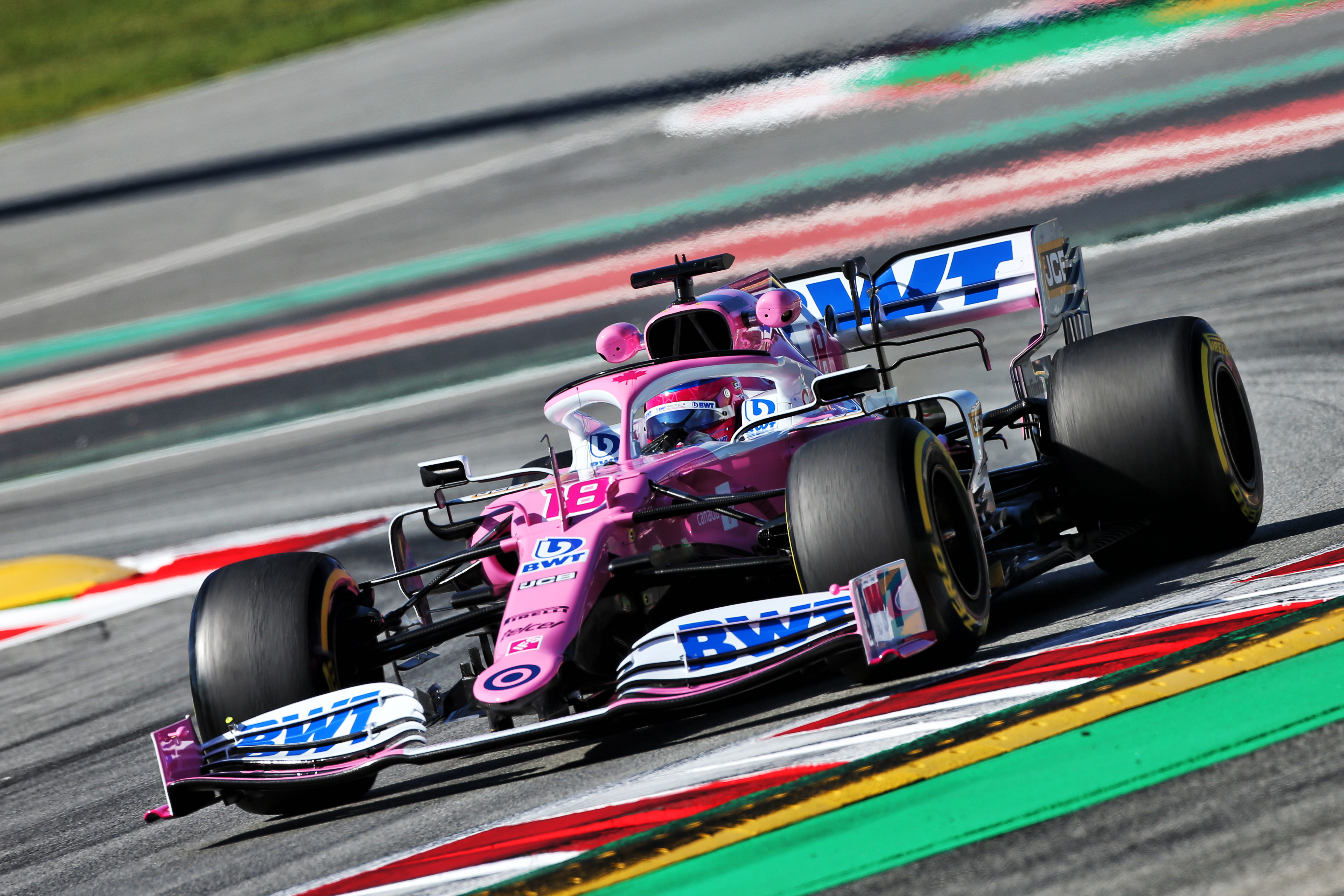 Lance Stroll Racing Point Barcelona F1 testing 2020