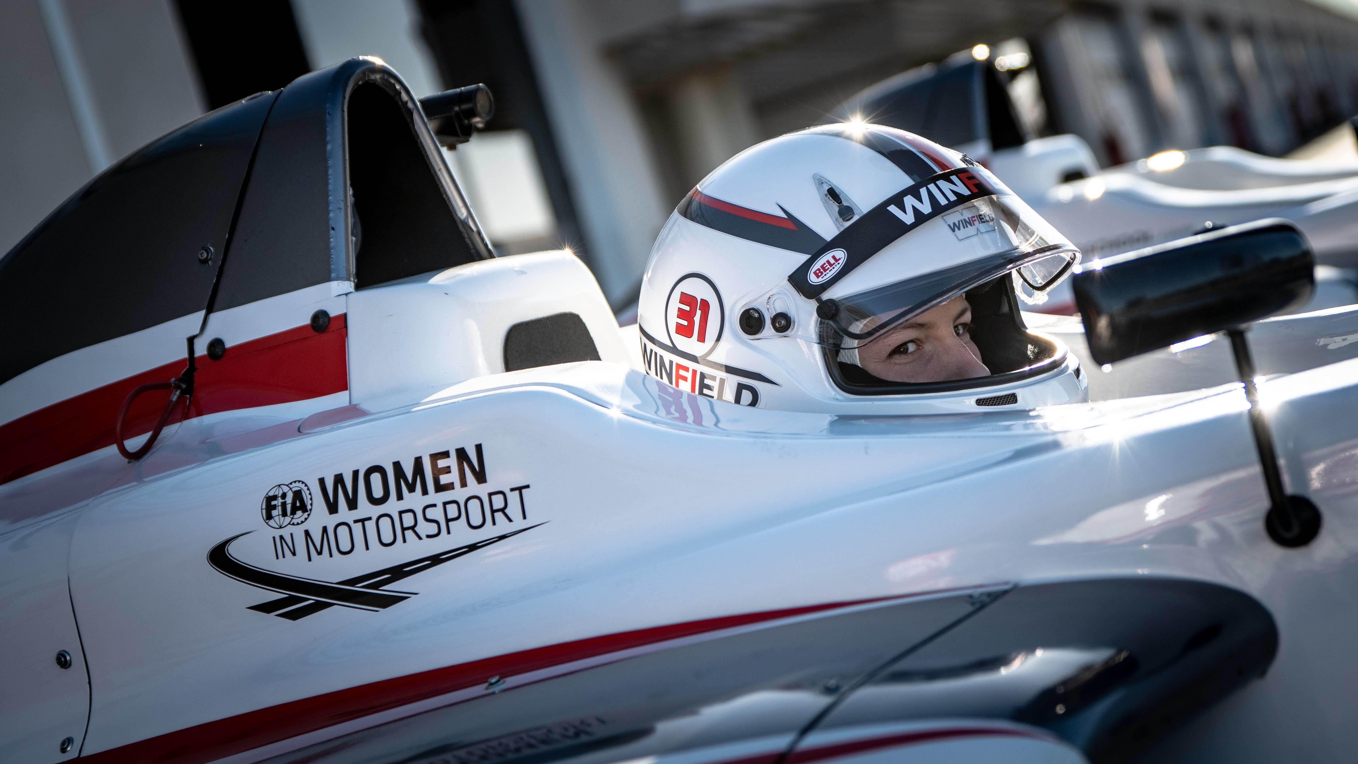FIA Women in Motorsport branding on F4 car