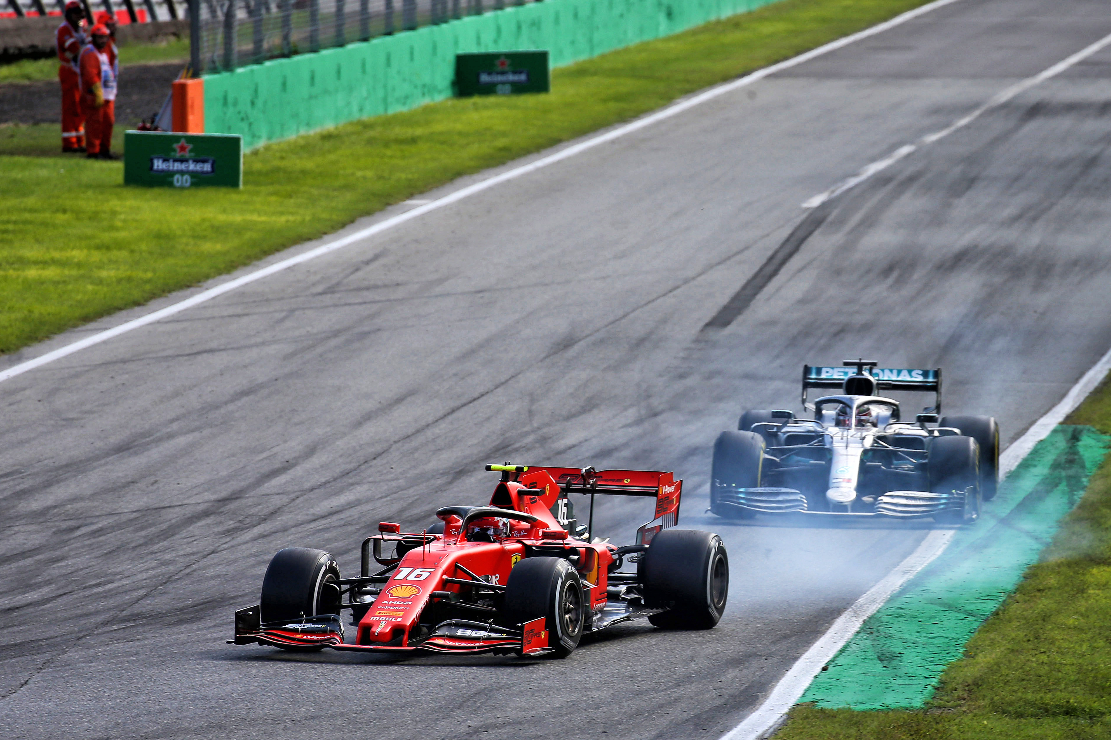 Charles Leclerc Ferrari Lewis Hamilton Mercedes Italian Grand Prix 2019 Monza