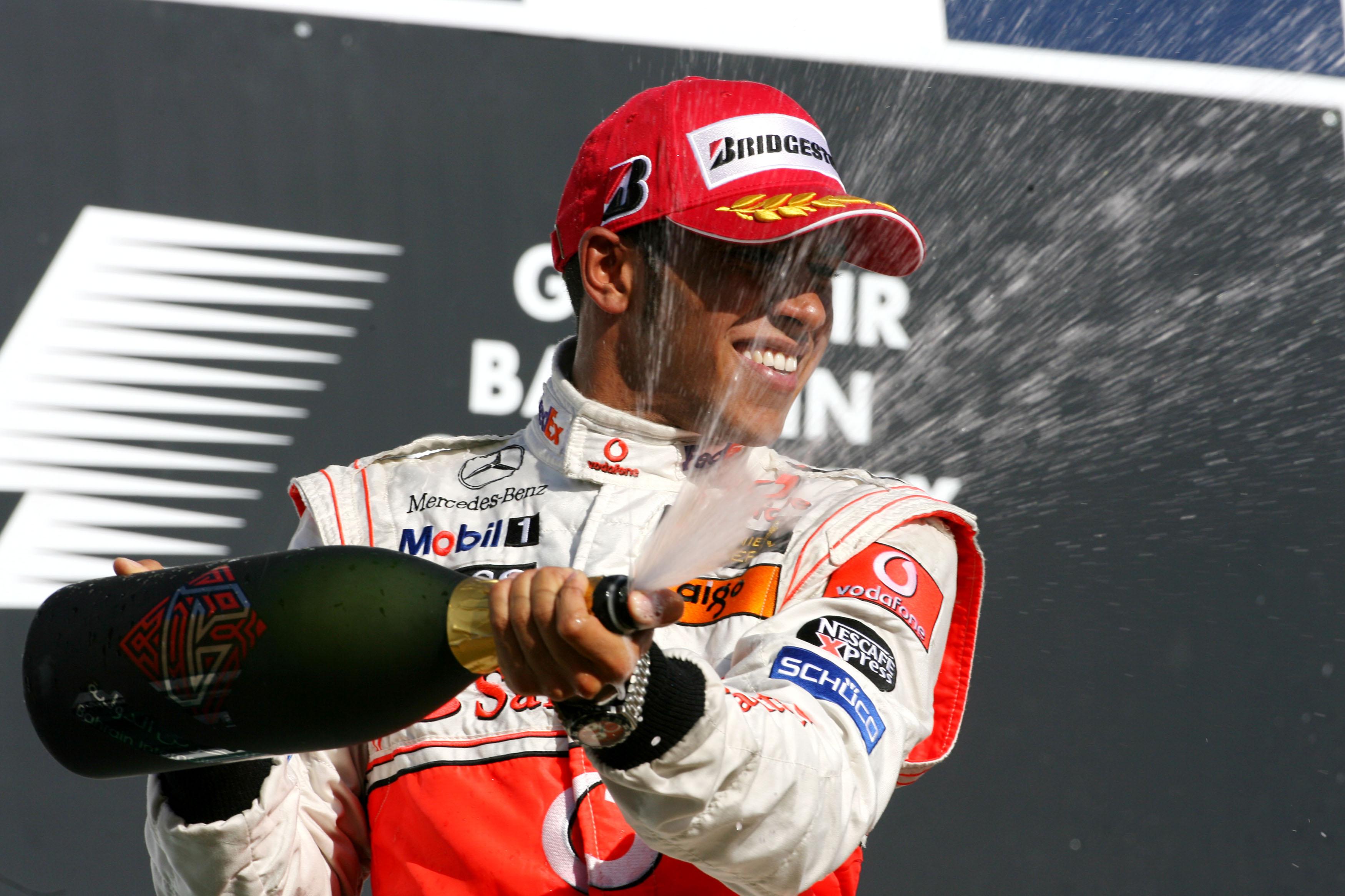 Lewis Hamilton podium 2007