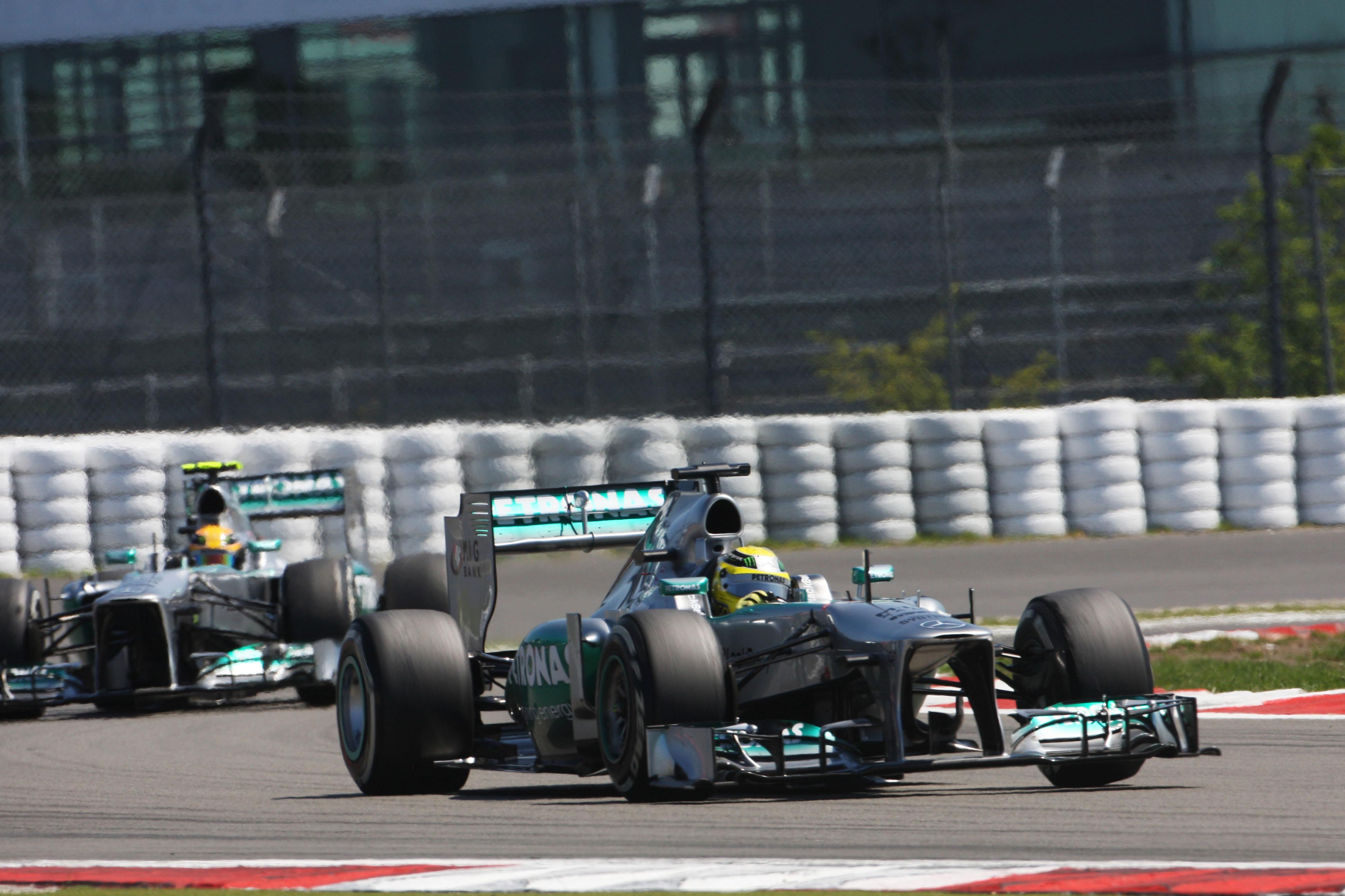 Nico Rosberg Lewis Hamilton Mercedes Nurburgring 2013