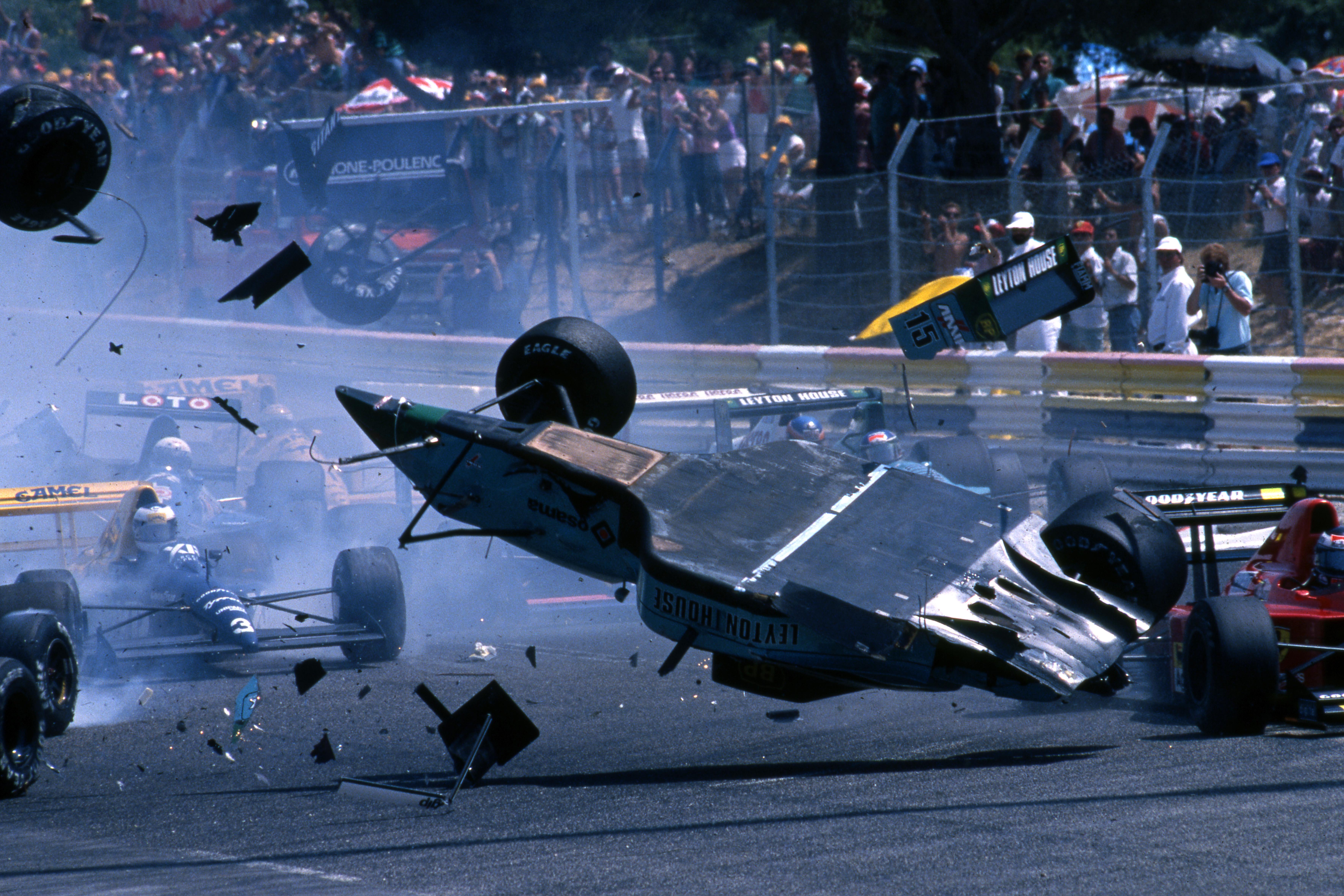 Mauricio Gugelmin crash French Grand Prix 1989 Paul Ricard