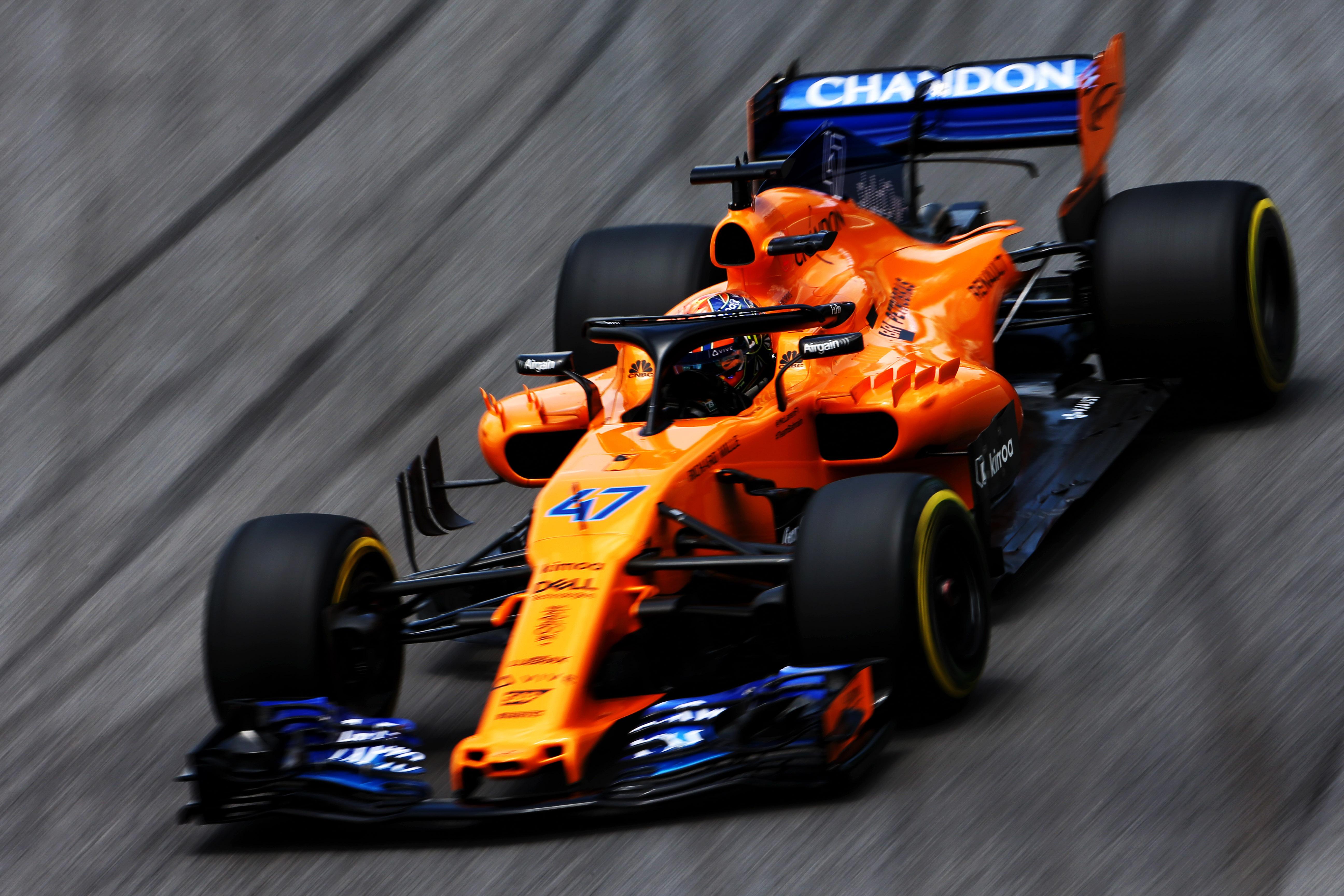 Lando Norris McLaren Brazilian Grand Prix practice Interlagos 2018