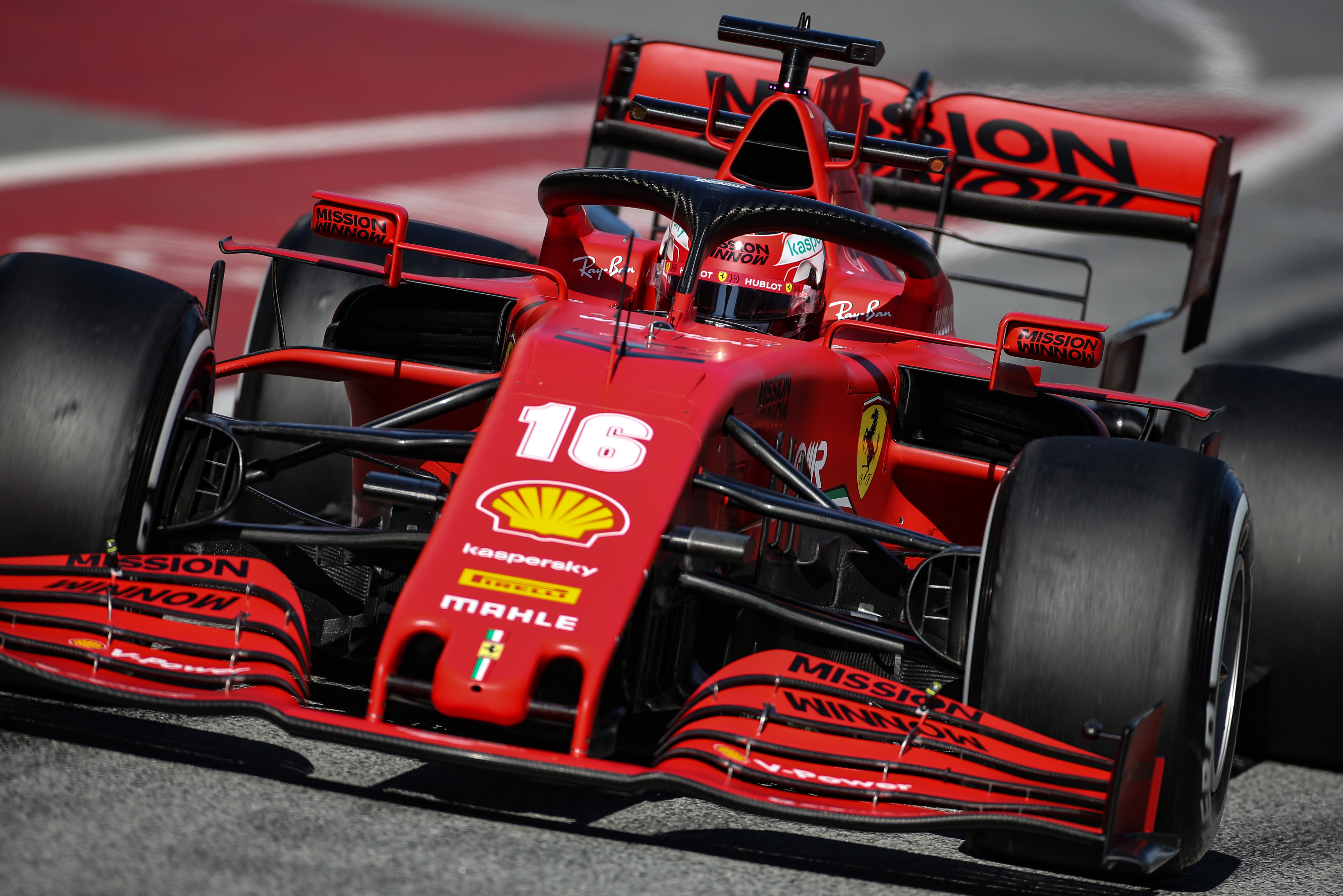 Charles Leclerc Ferrari Barcelona F1 testing 2020