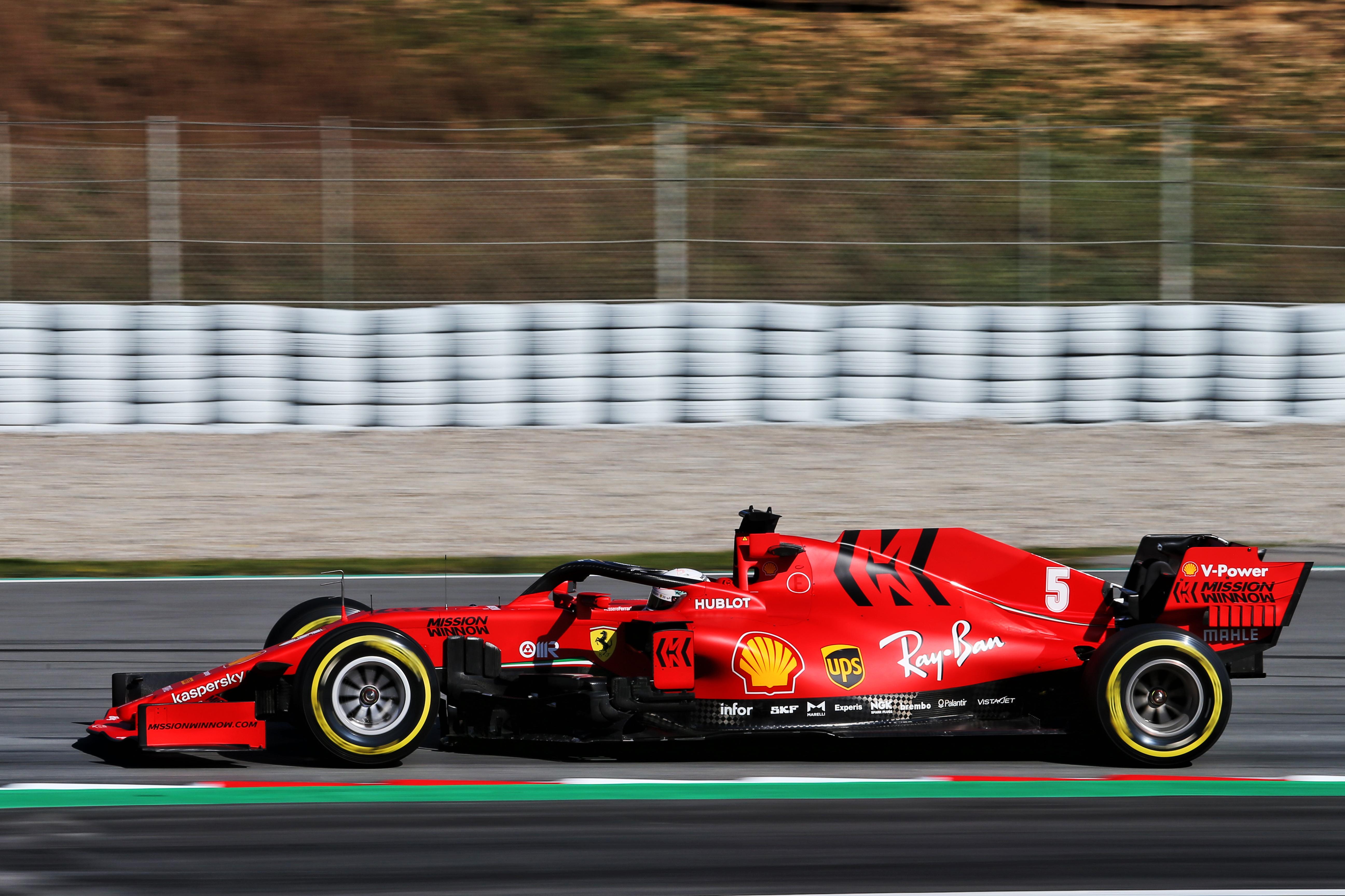 Sebastian Vettel Ferrari Barcelona F1 testing 2020