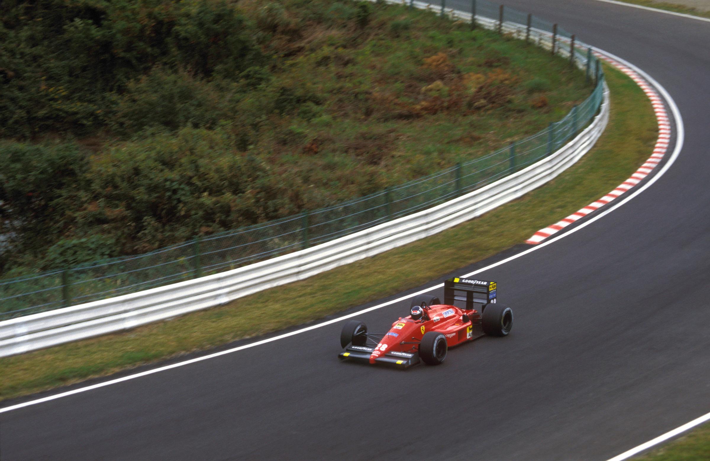 Gerhard Berger Ferrari Japanese Grand Prix 1987 Suzuka