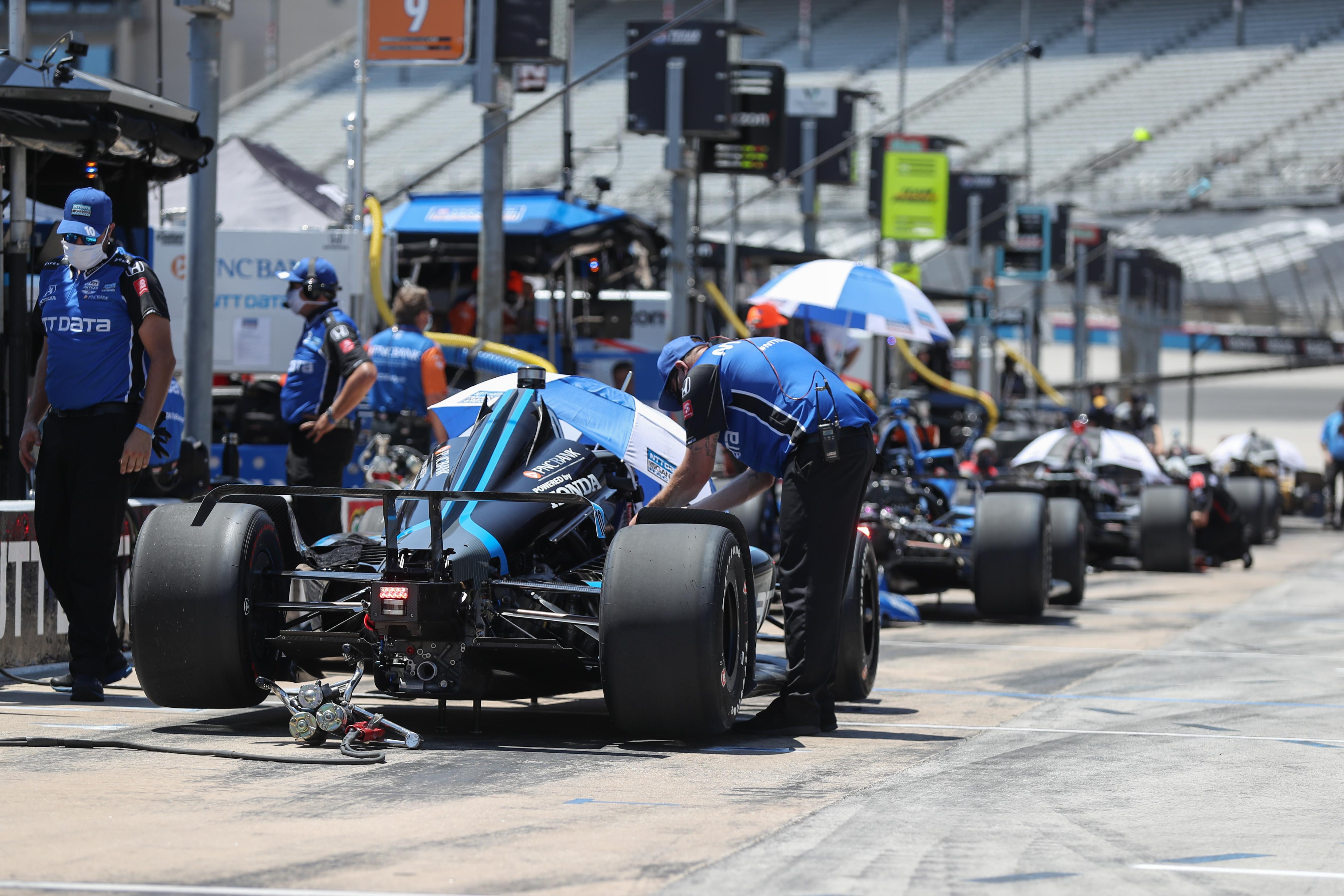 IndyCar Texas pitlane