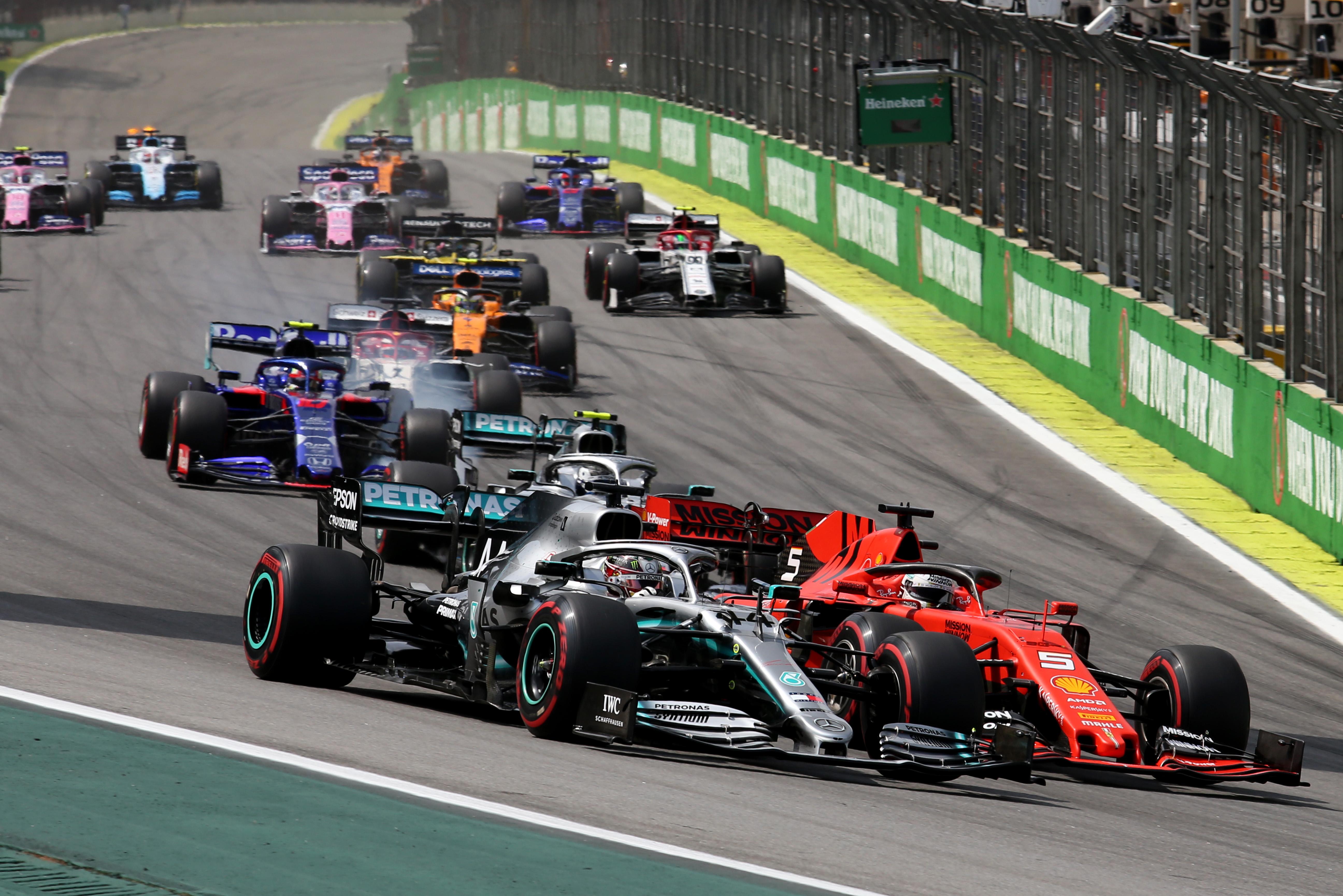 Sebastian Vettel Lewis Hamilton Mercedes Ferrari F1 2020