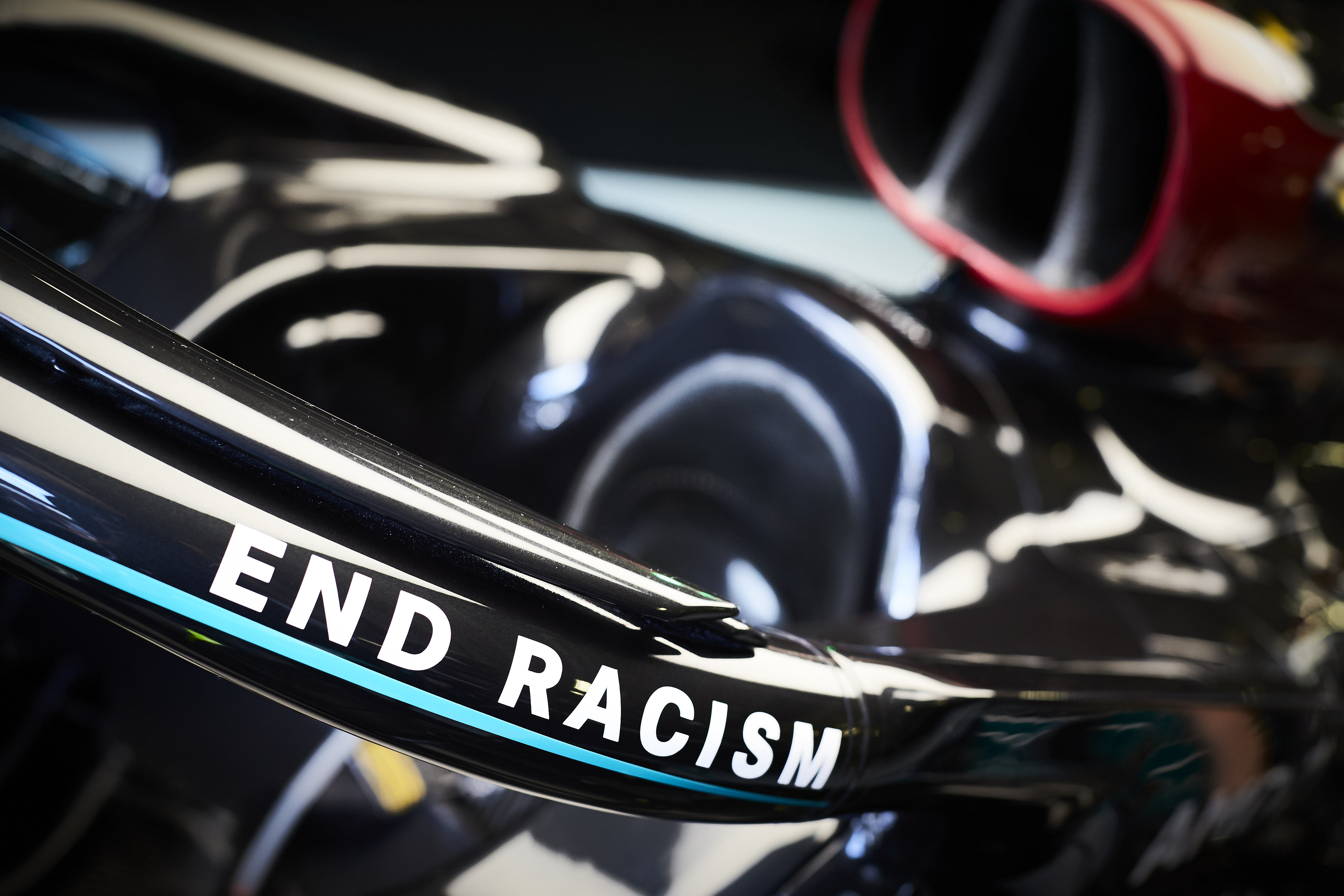 Mercedes end racism logo