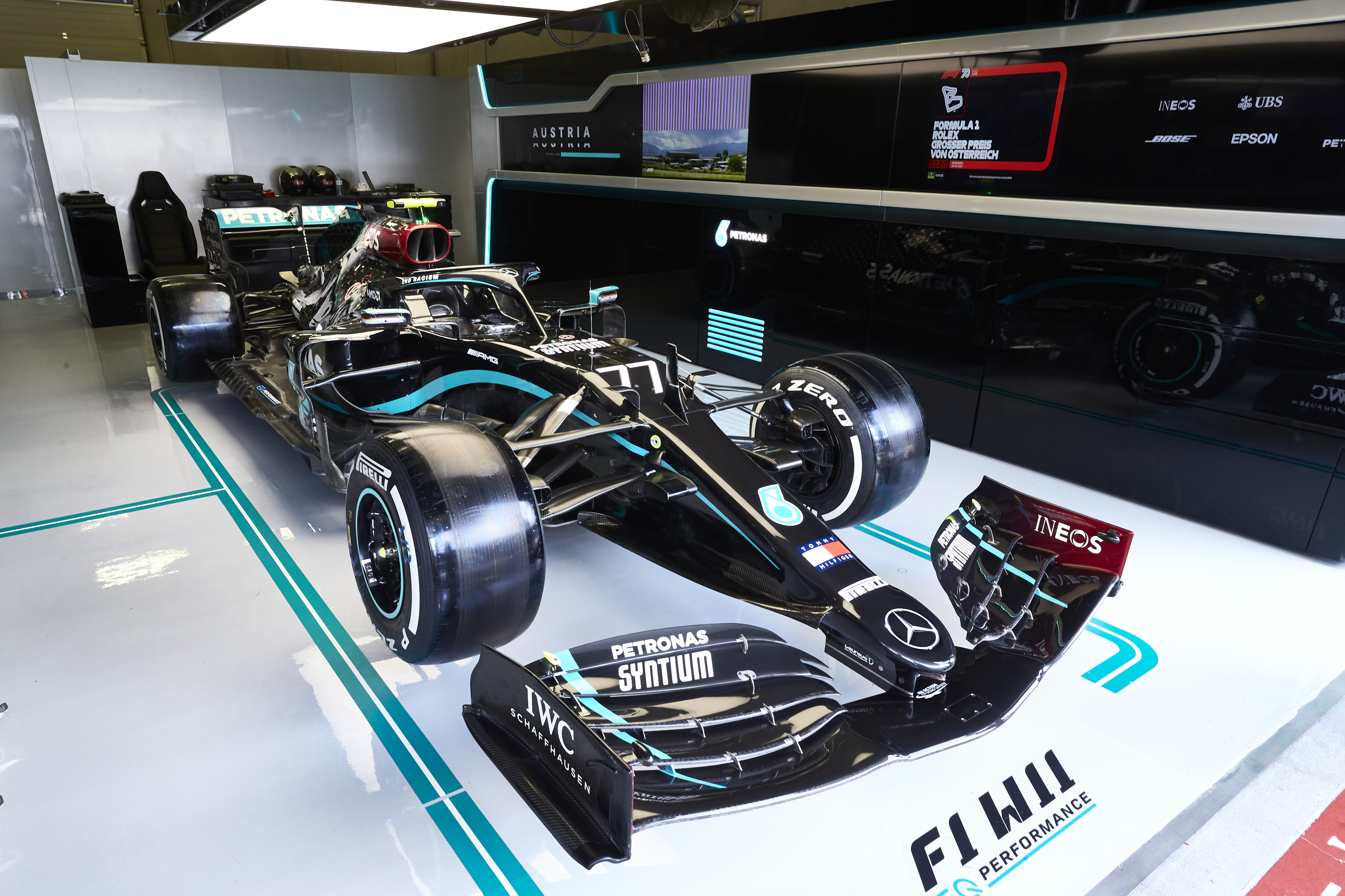 Mercedes black livery
