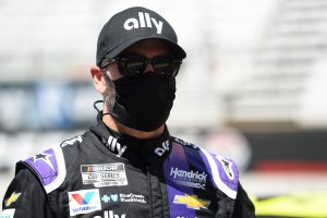 Jimmie Johnson NASCAR Cup Series 2020 wearing a mask