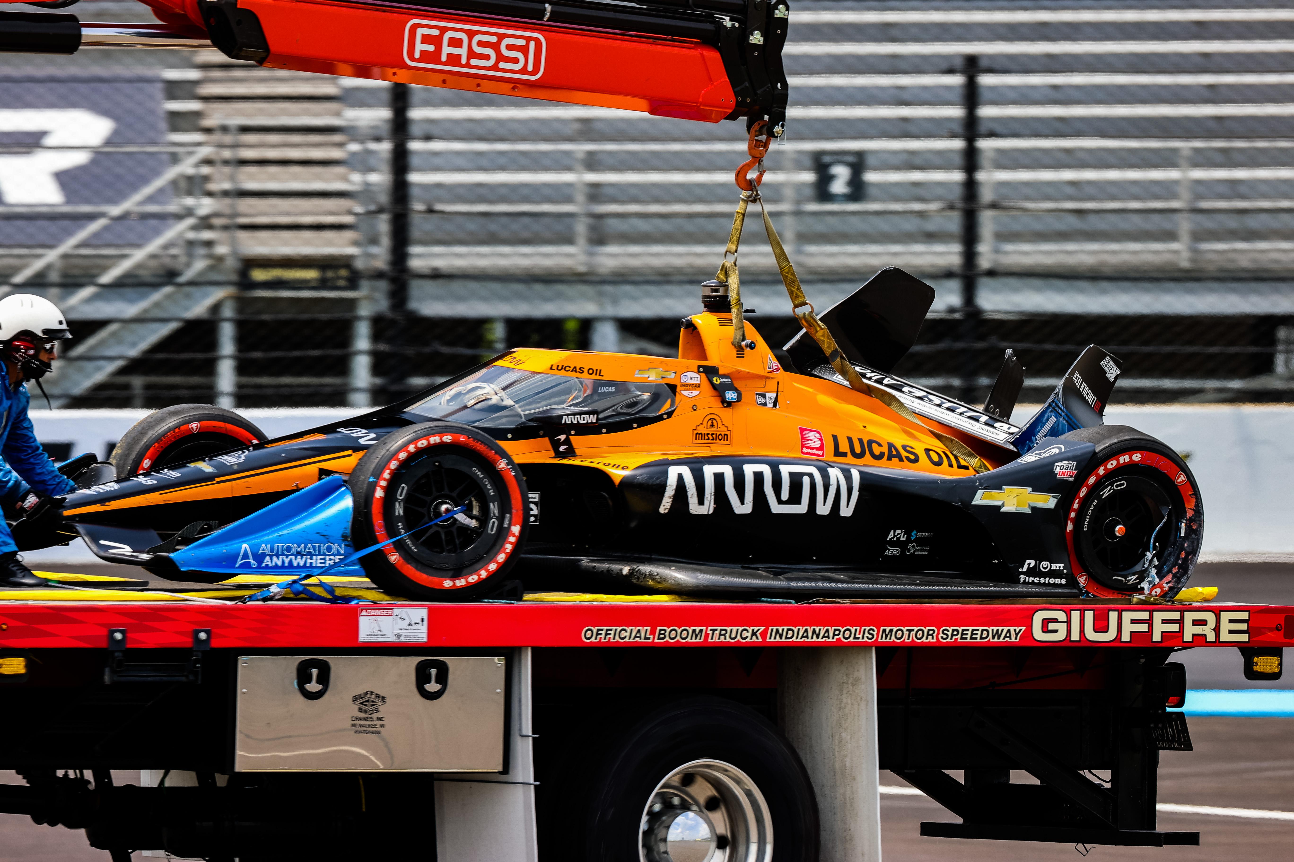 Oliver Askew crash Indianapolis IndyCar 2020