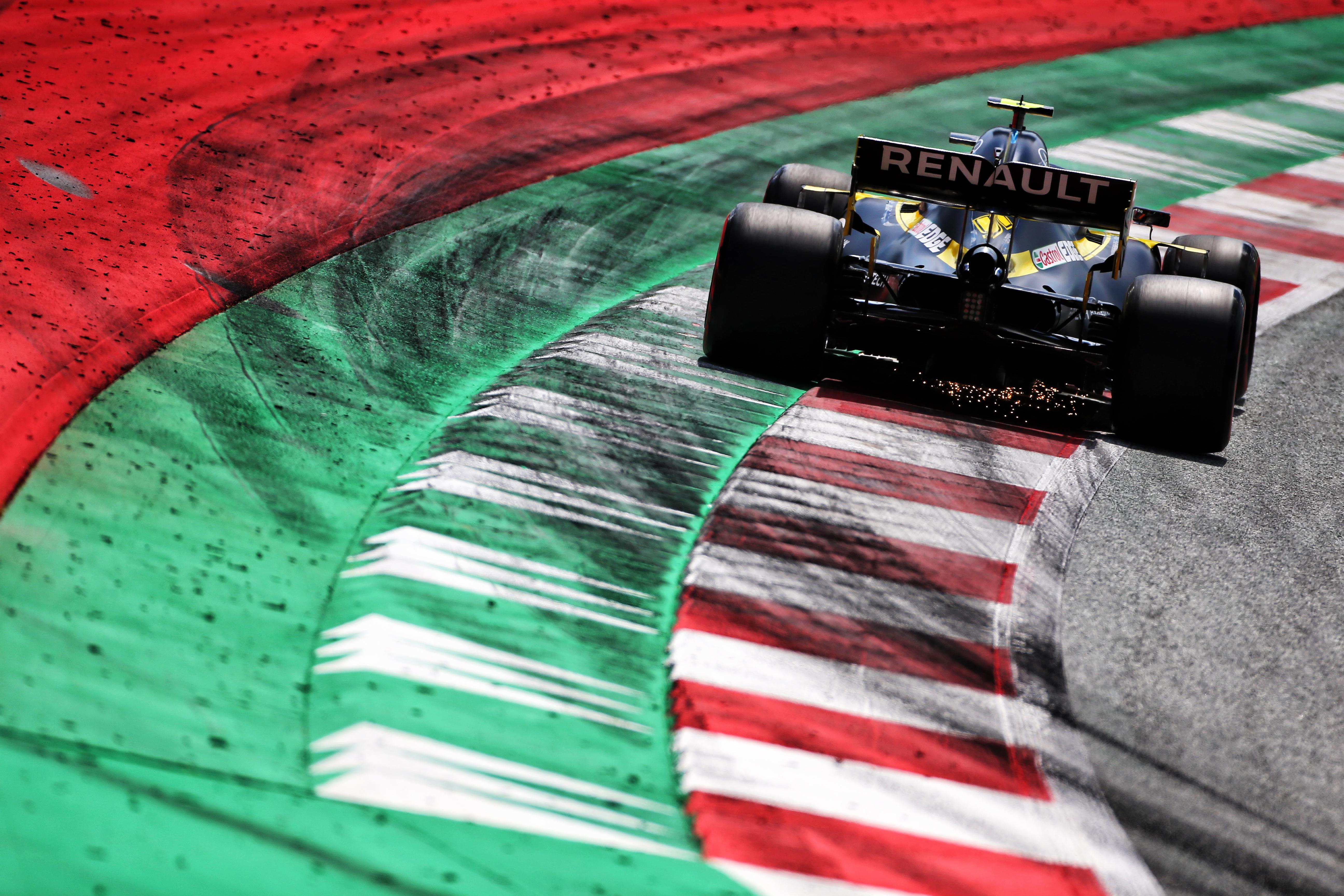 Renault F1 rear shot Red Bull Ring kerbs 2020 Austrian Grand Prix