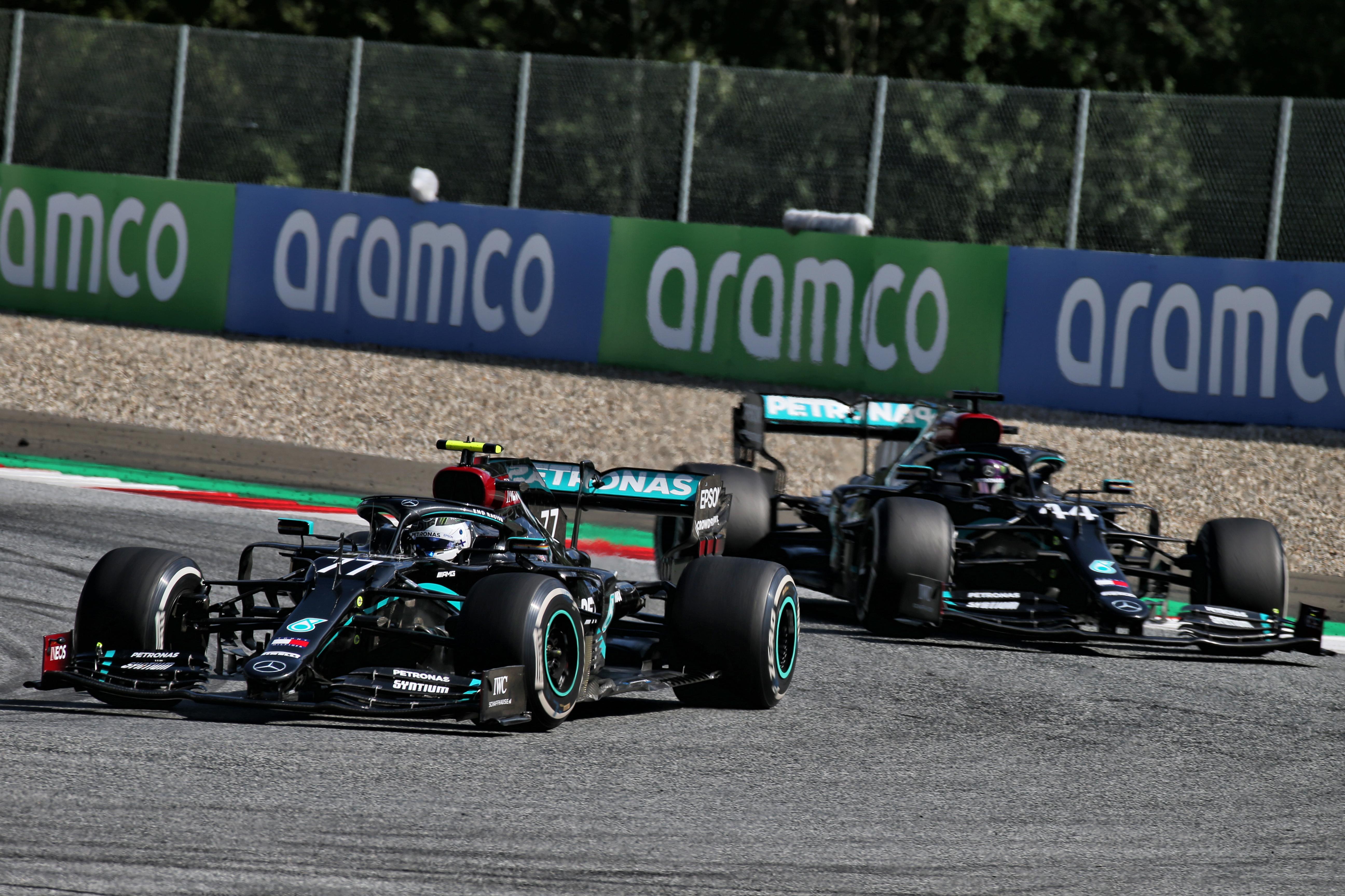 Lewis Hamilton Valtteri Bottas Mercedes Austria 2020