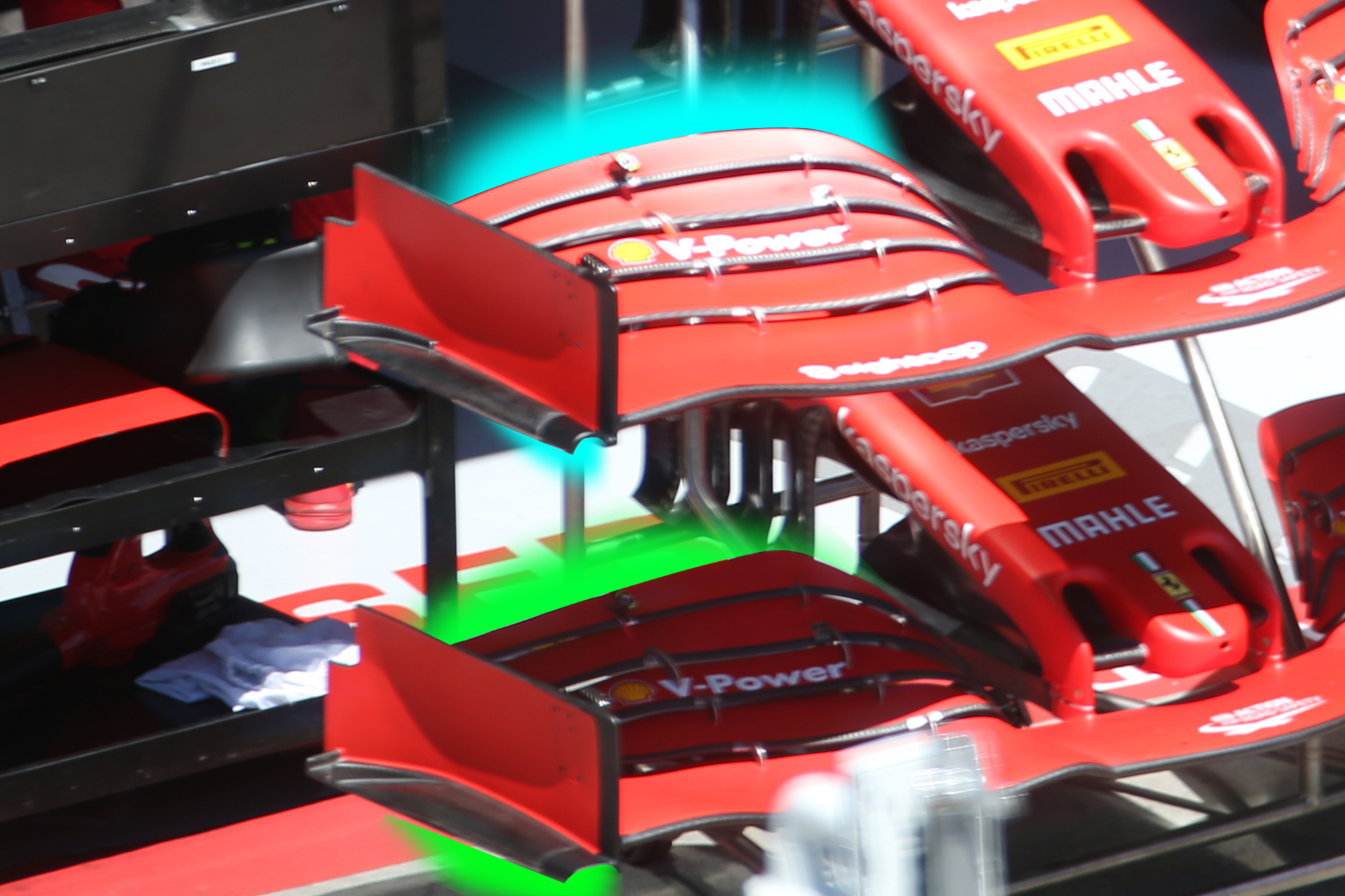 Ferrari Front Wing Differences