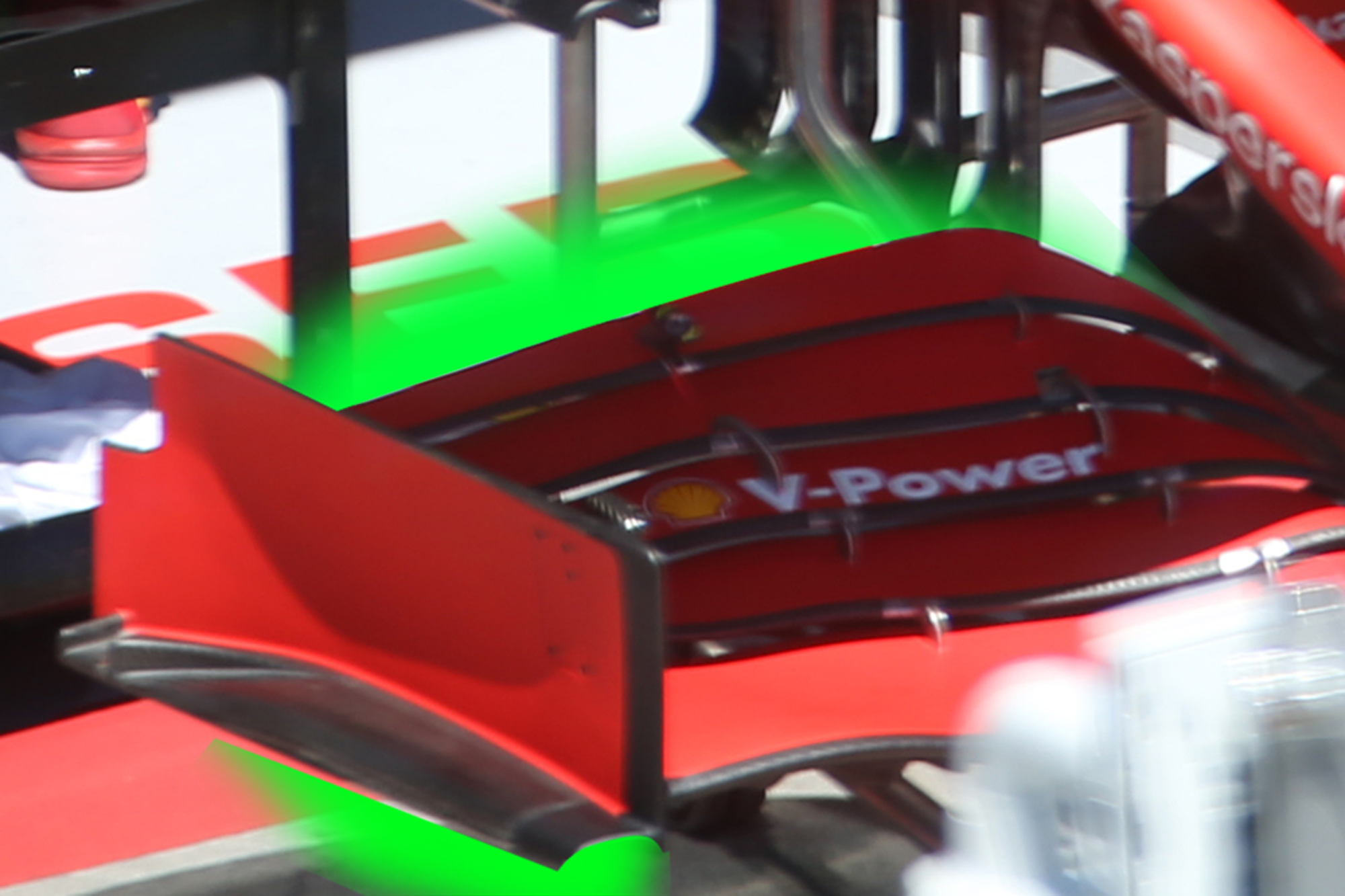 Ferrari Front Wing Detail Old