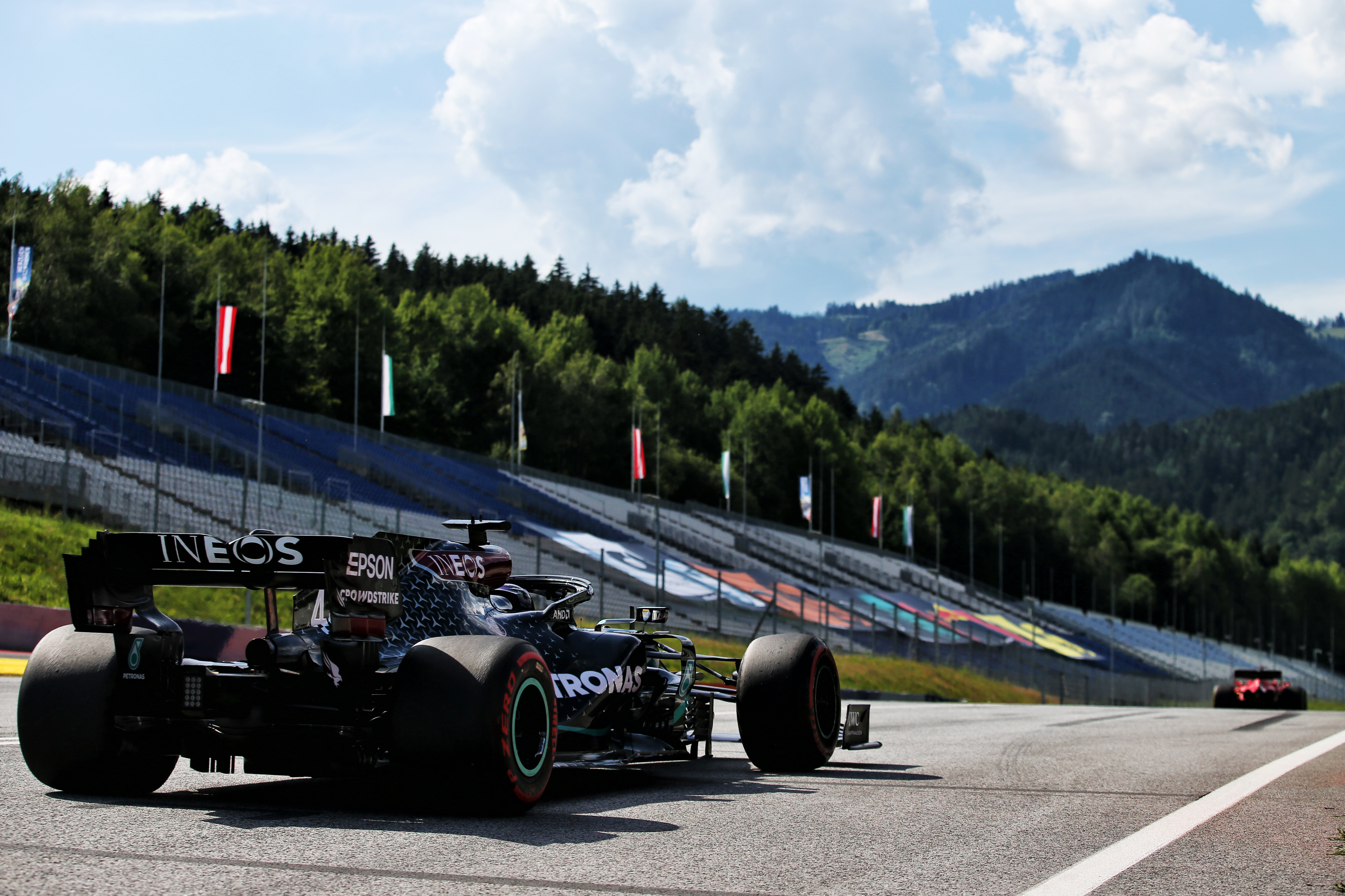 Lewis Hamilton Mercedes Styrian Grand Prix practice 2020