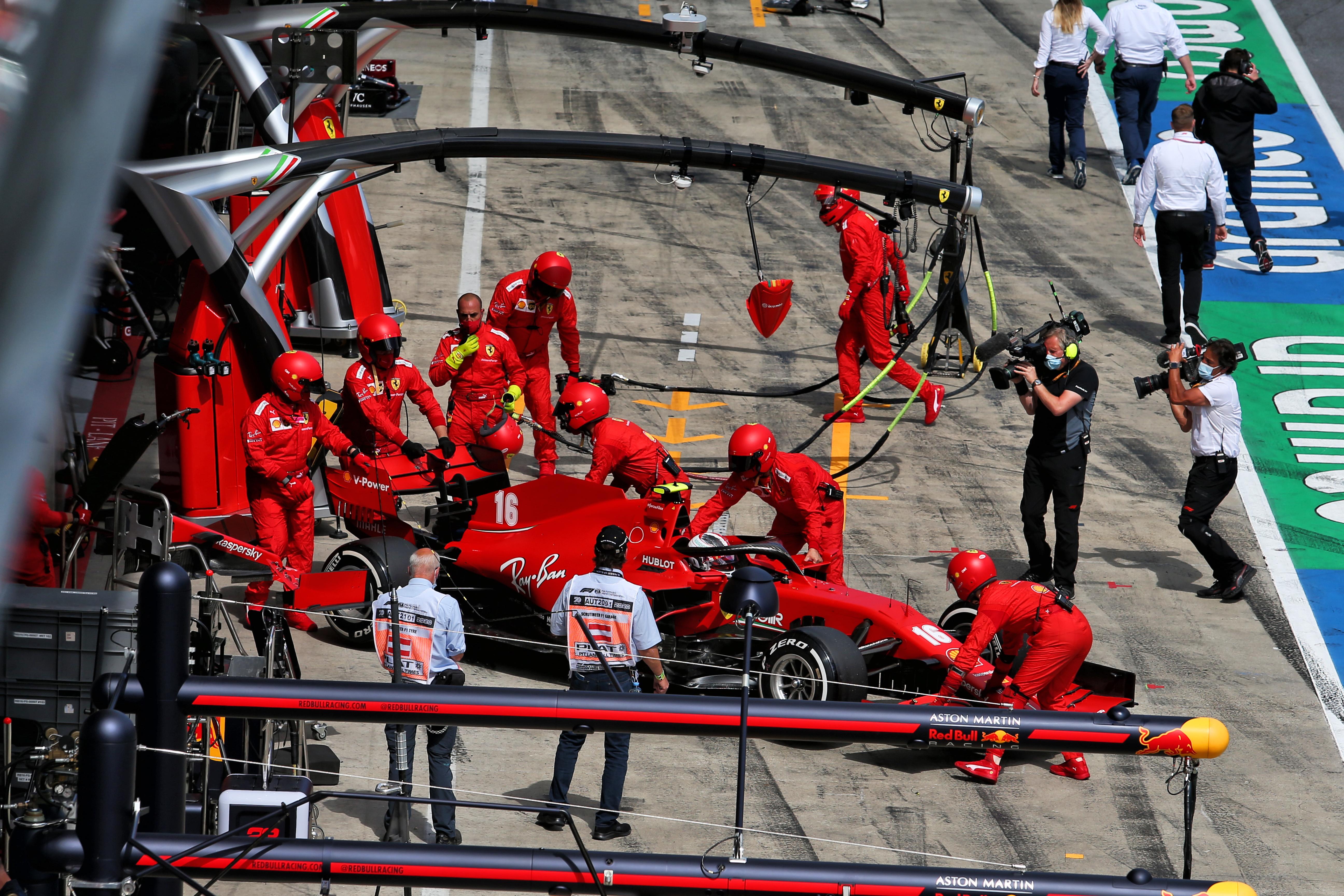 Charles Leclerc Ferrari retires Styrian Grand Prix 2020