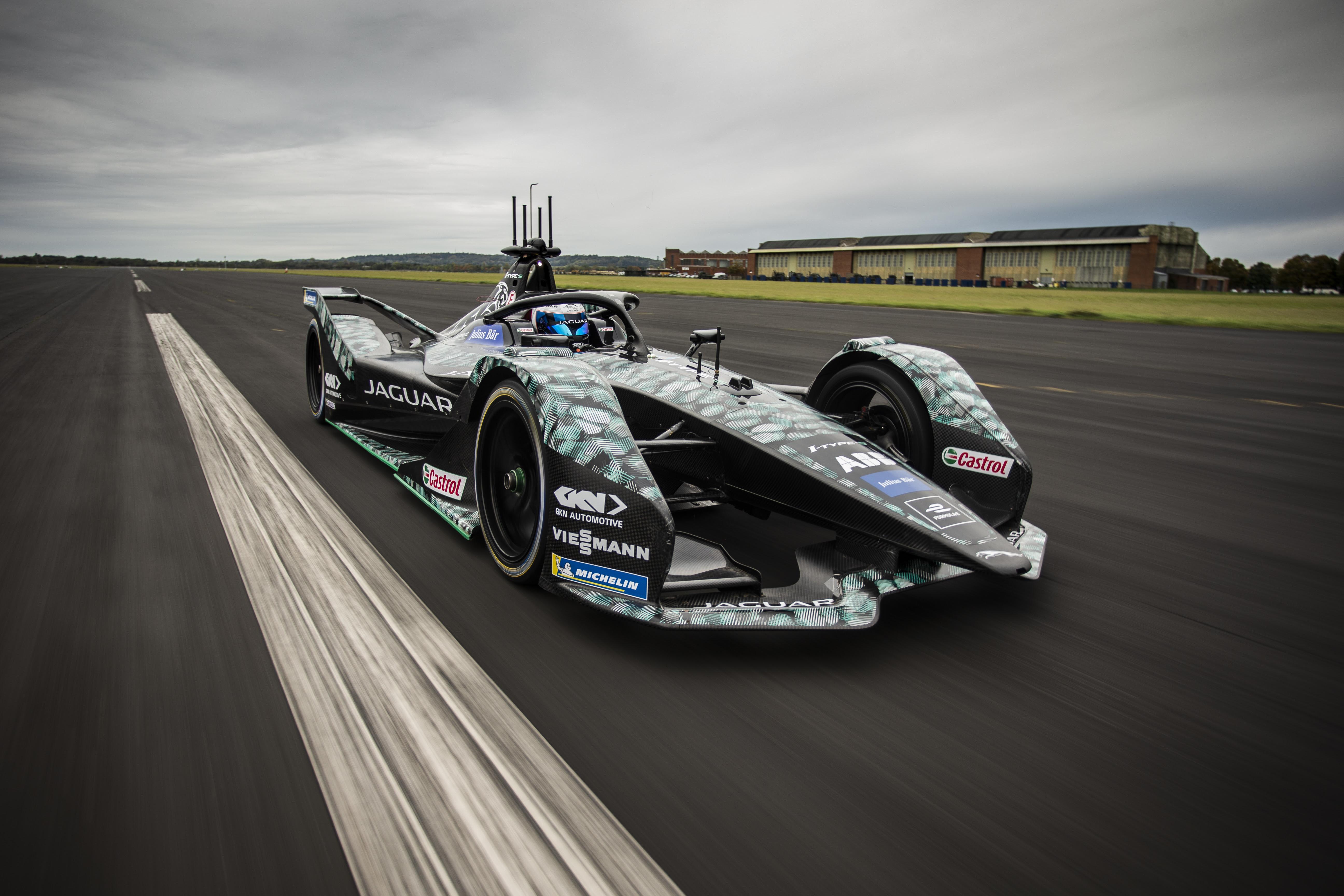 Sam Bird Jaguar Formula E test