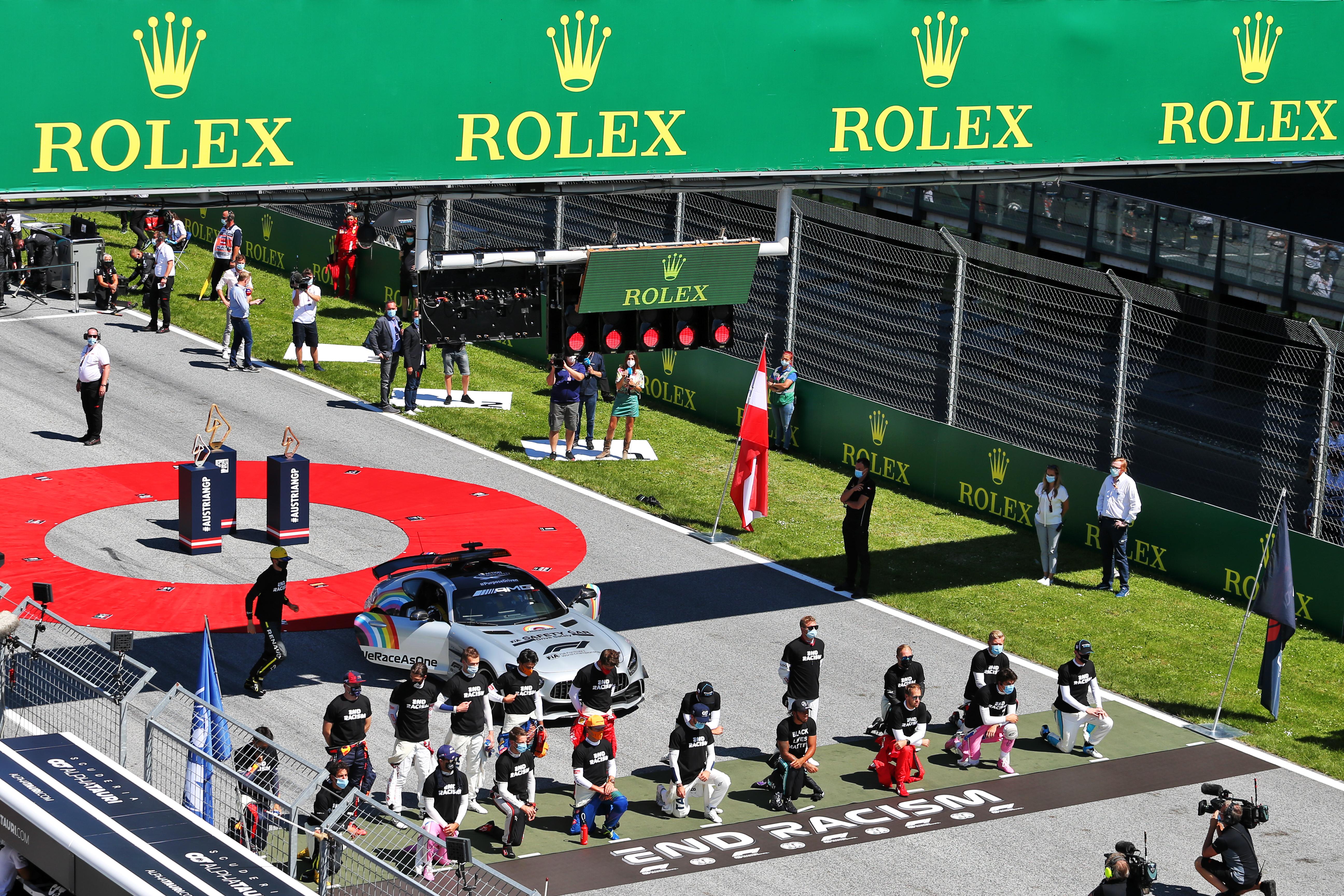 F1 drivers anti-racism Austrian Grand Prix 2020