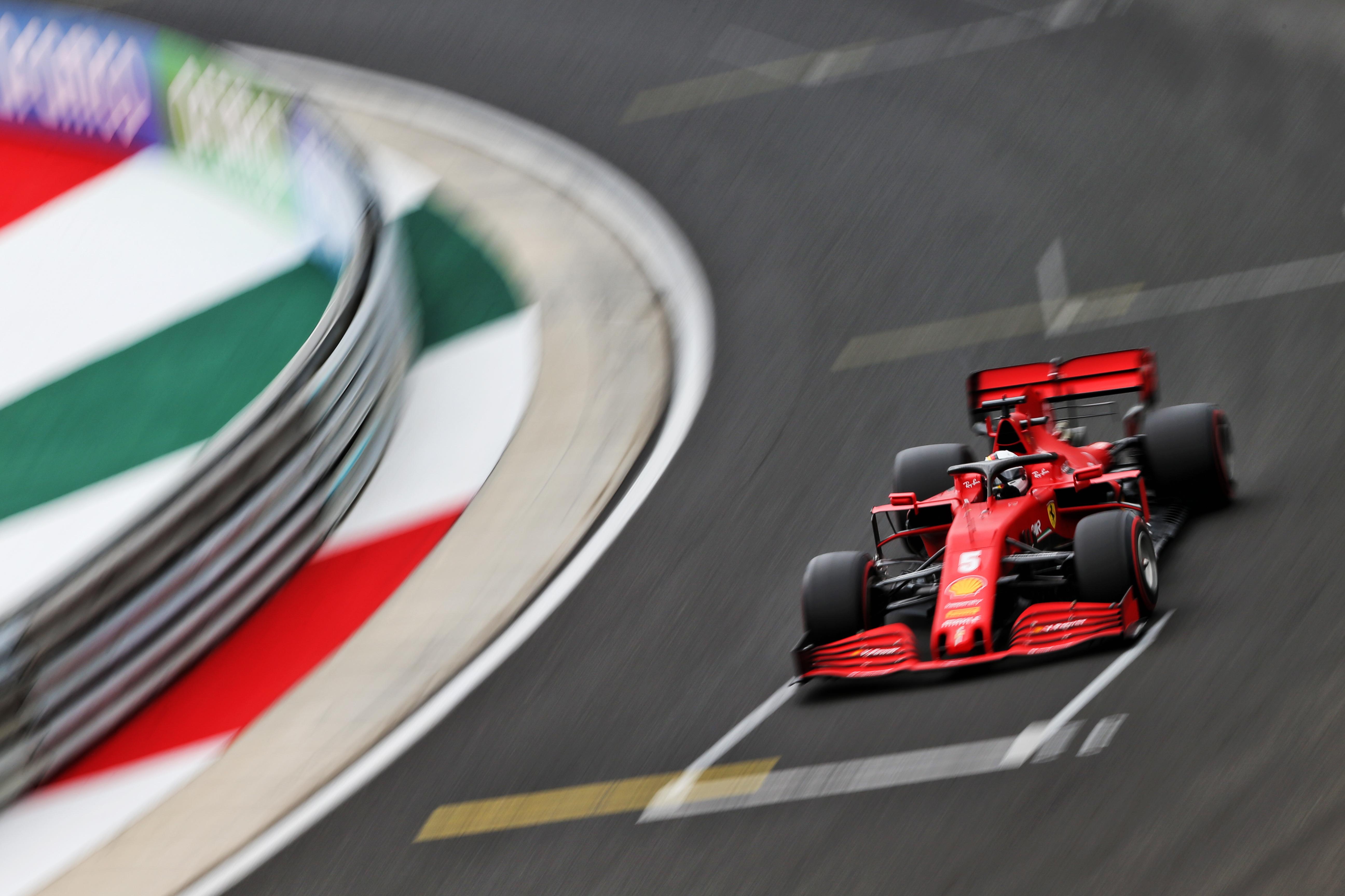 Sebastian Vettel Ferrari Hungary F1 2020