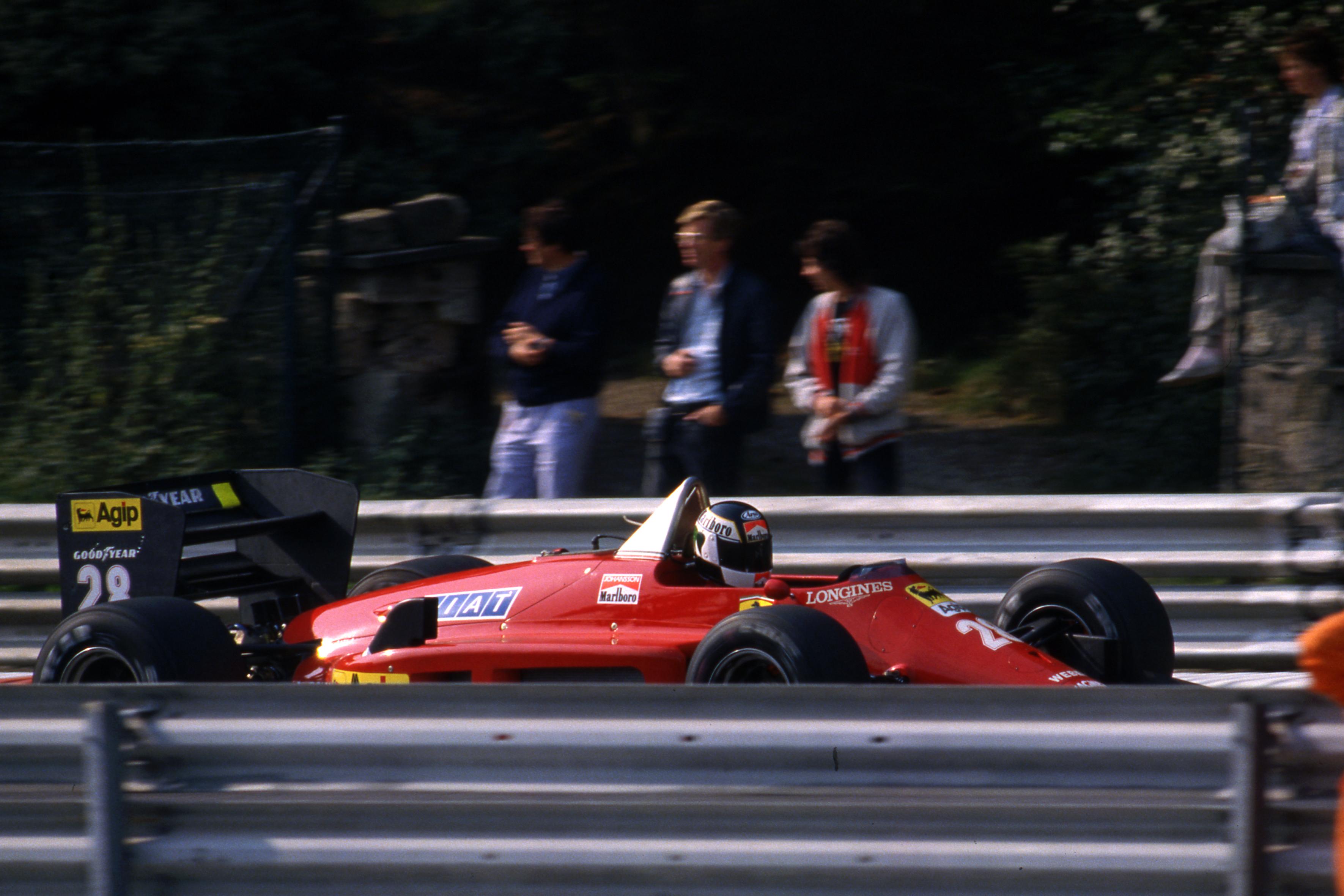 Stefan Johansson Ferrari Belgian Grand Prix 1985 Spa