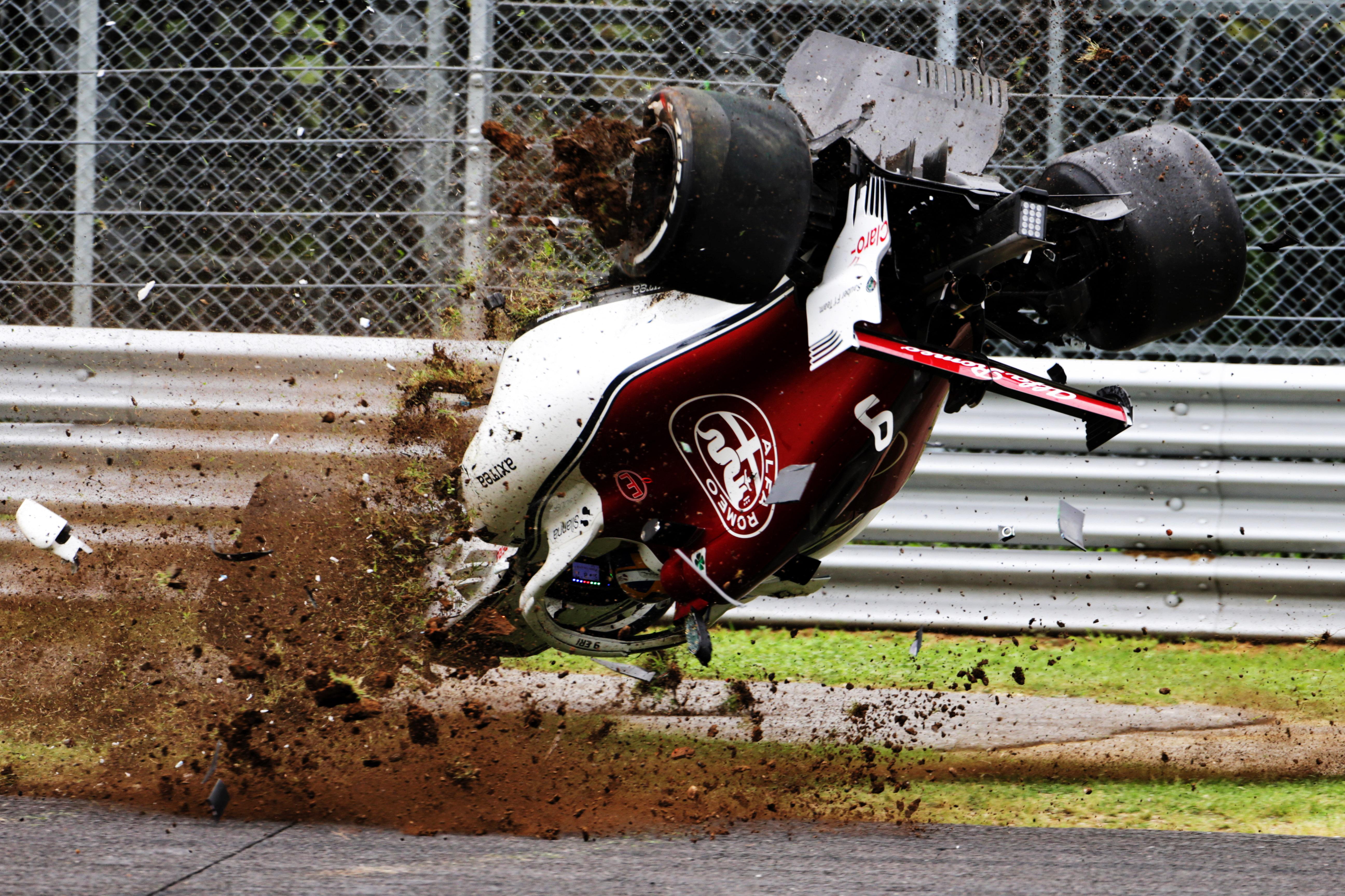 Marcus Ericsson Sauber crash Italian Grand Prix 2018 Monza