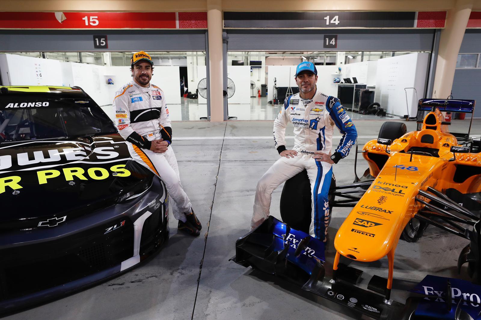 Fernando Alonso Jimmie Johnson car swap