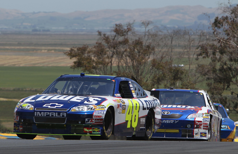 Jimmie Johnson Sonoma NASCAR 2010