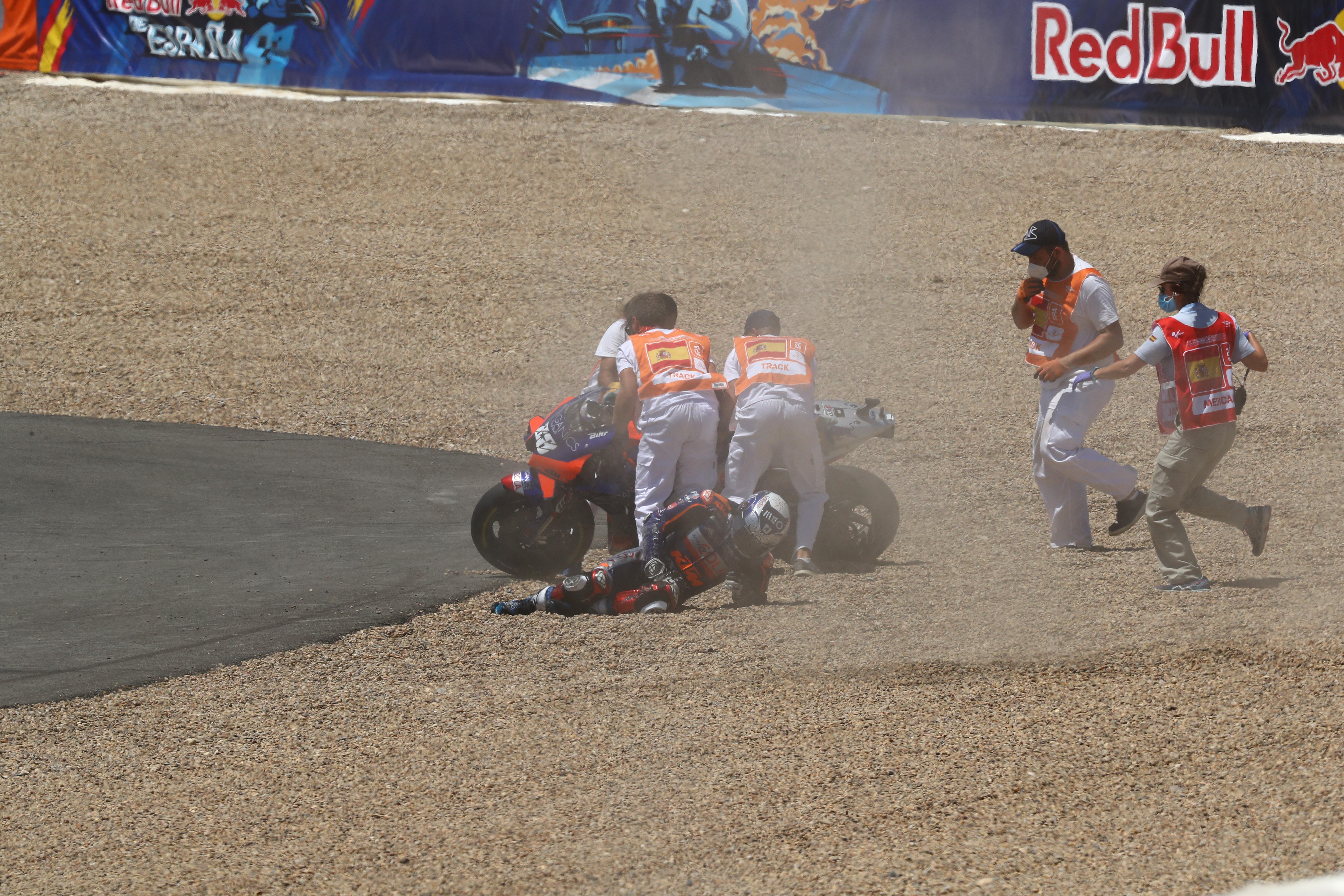 Miguel Oliveira crash
